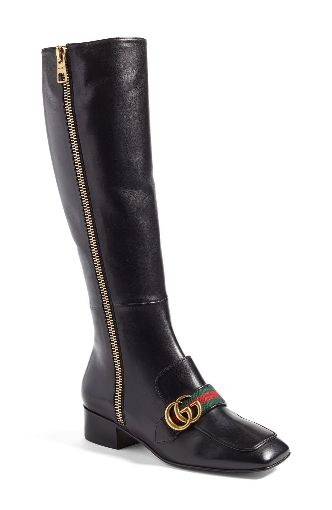 Alternate Image 1 Selected - Gucci 'Peyton' Tall Boot (Women)