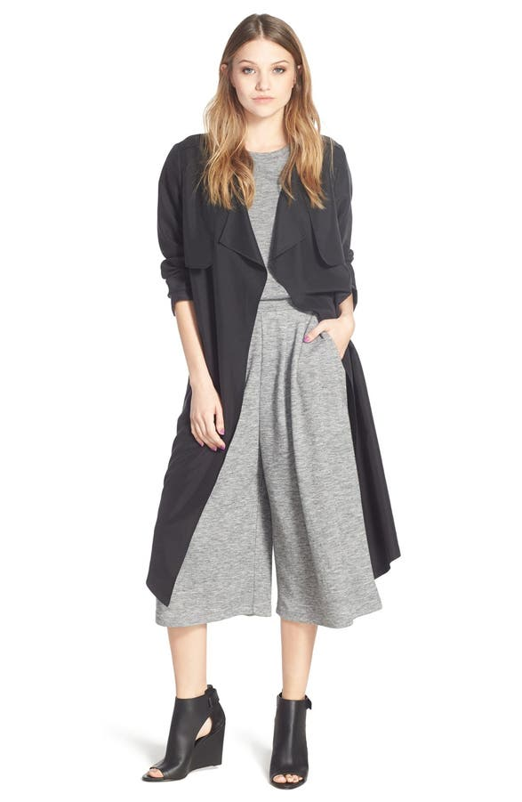 cc california green trenchcoat dark in clothing lyst c drapes trench draped coat