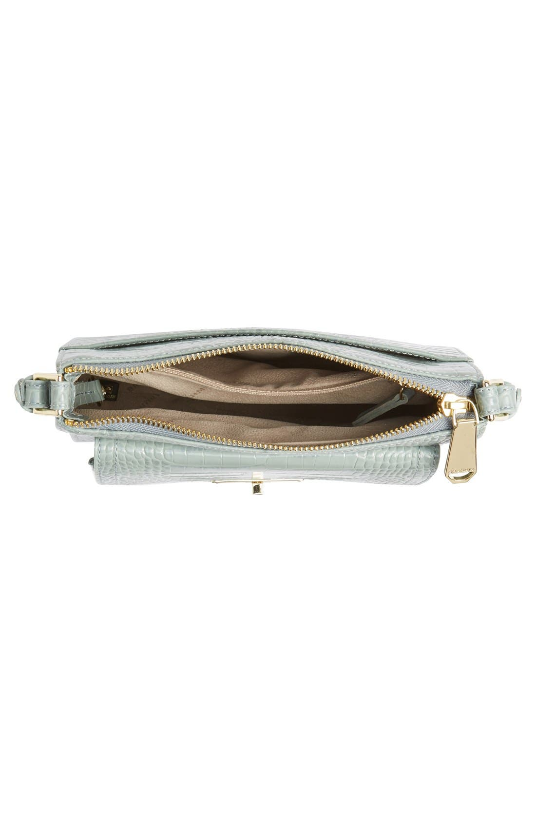 Alternate Image 4  - Brahmin 'Mimosa' Croc Embossed Leather Crossbody Bag