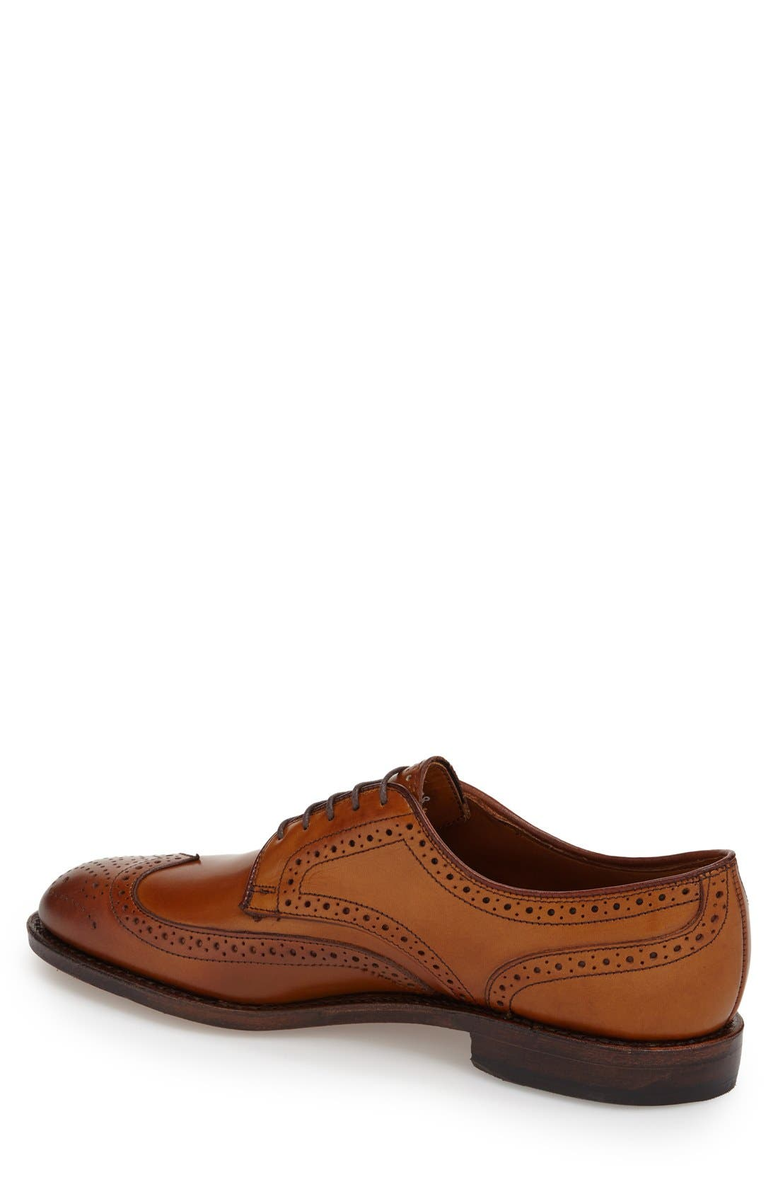 'Madison Park' Wingtip,                             Alternate thumbnail 2, color,                             Walnut Leather