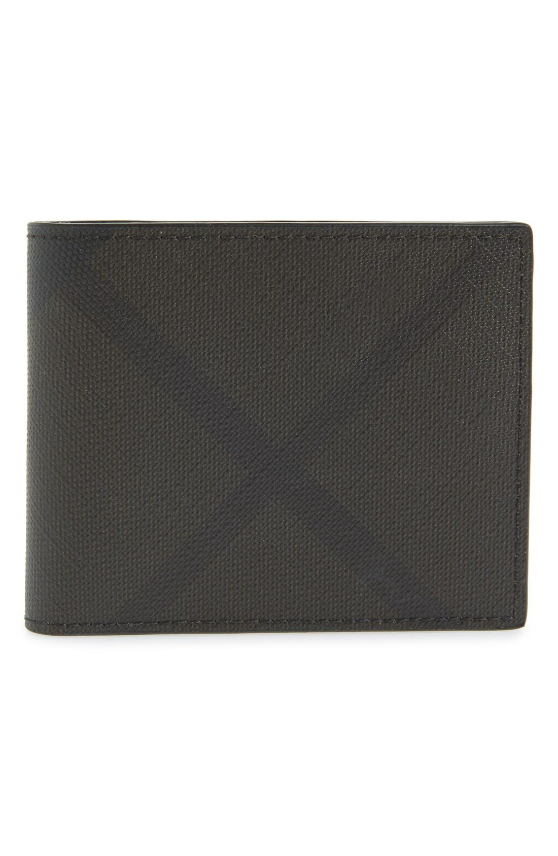 Alternate Image 1 Selected - Burberry Check Wallet