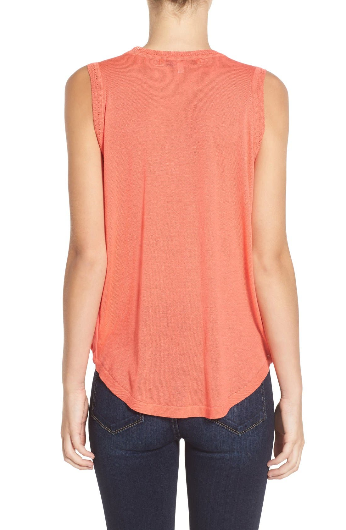 'Maiden' Surplice Front Top,                             Alternate thumbnail 2, color,                             Pacific Coral