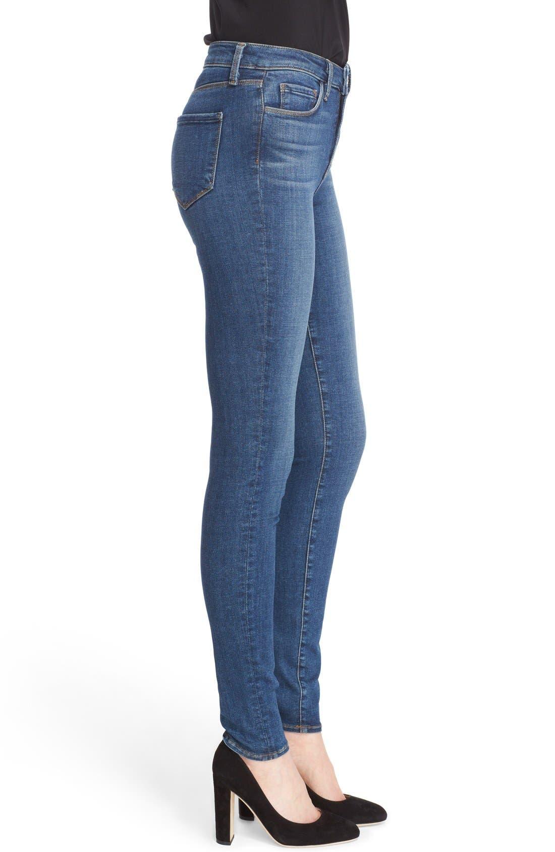 '30' High Rise Skinny Jeans,                             Alternate thumbnail 3, color,                             Dark Vintage