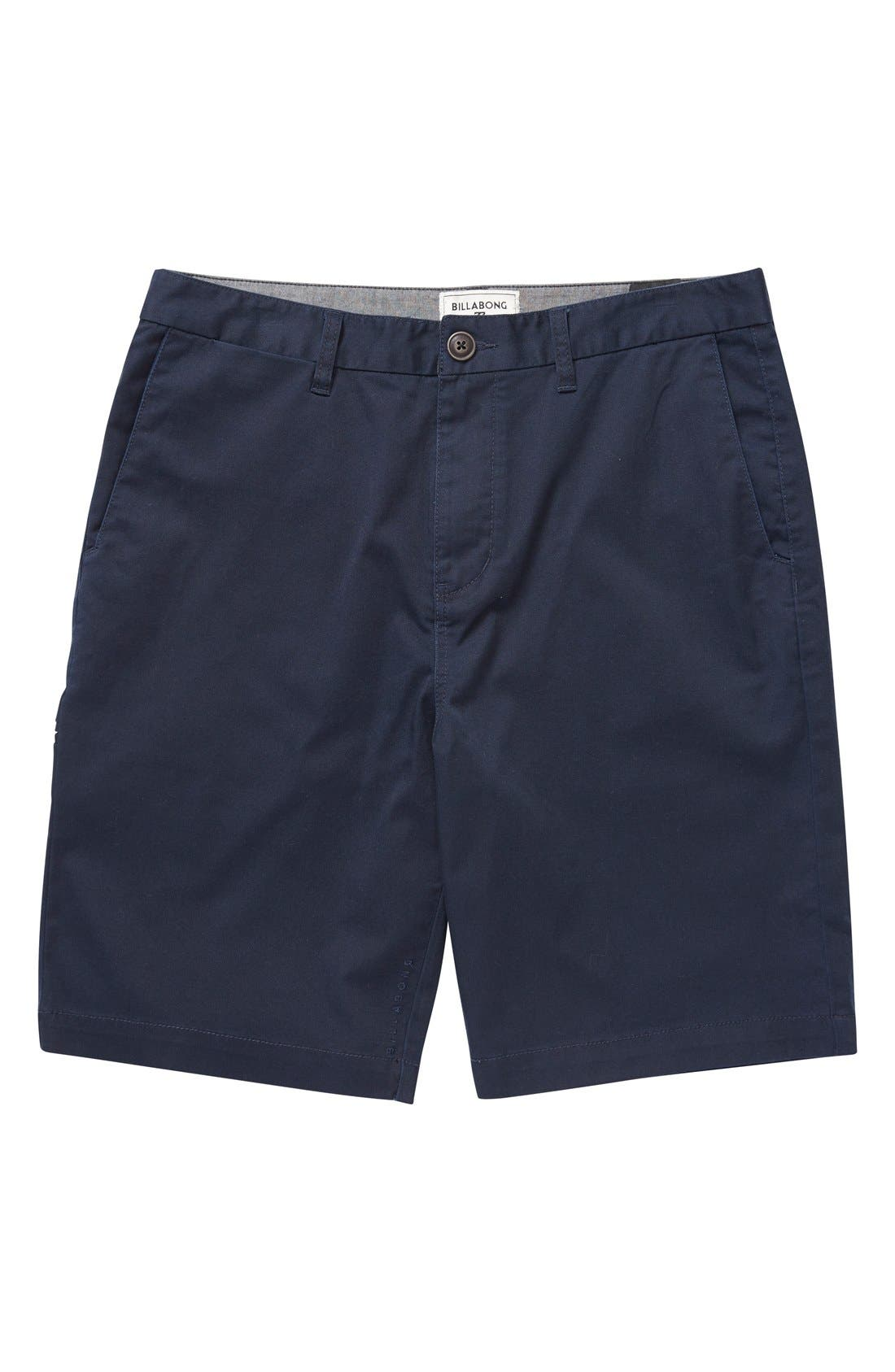 'Carter' Cotton Twill Shorts,                         Main,                         color, Navy