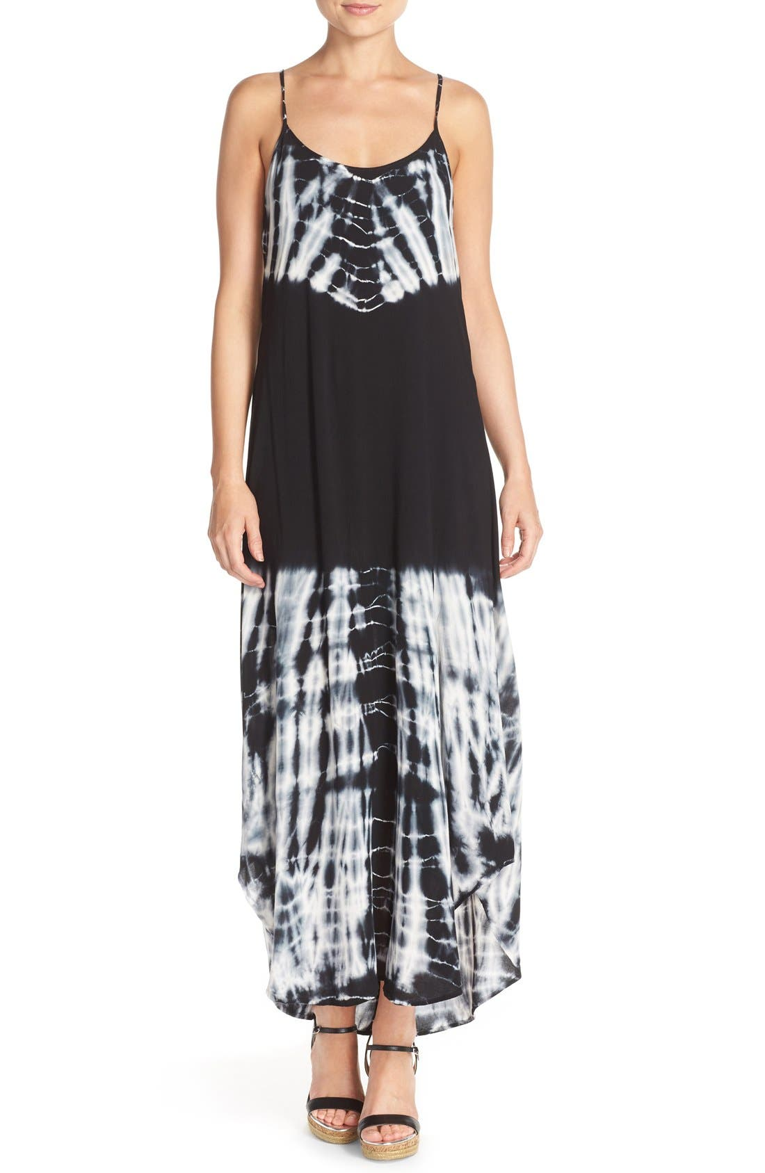 FRAICHE BY J Tie Dye Maxi Slipdress