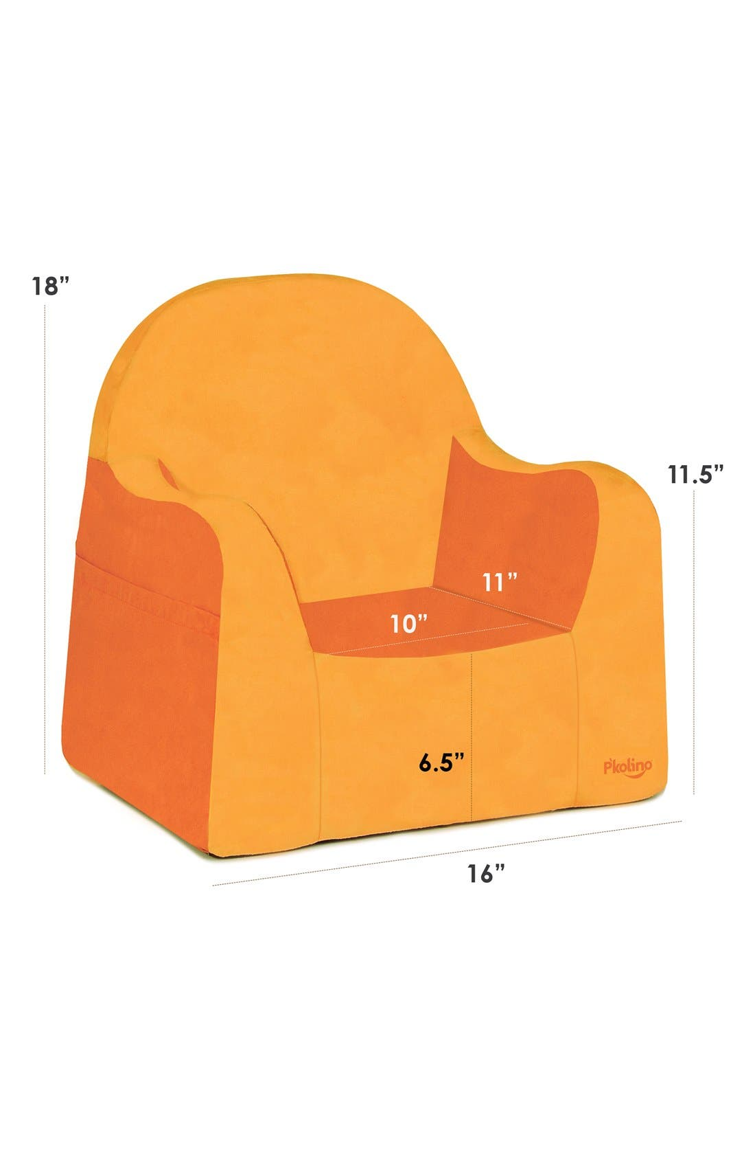 'Personalized Little Reader' Chair,                             Alternate thumbnail 3, color,                             Orange