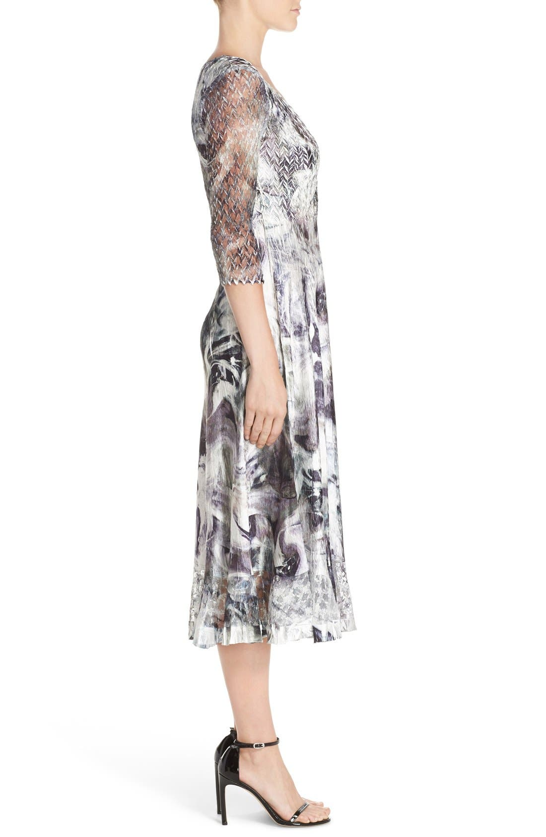 Alternate Image 3  - Komarov Mixed Media Midi Dress