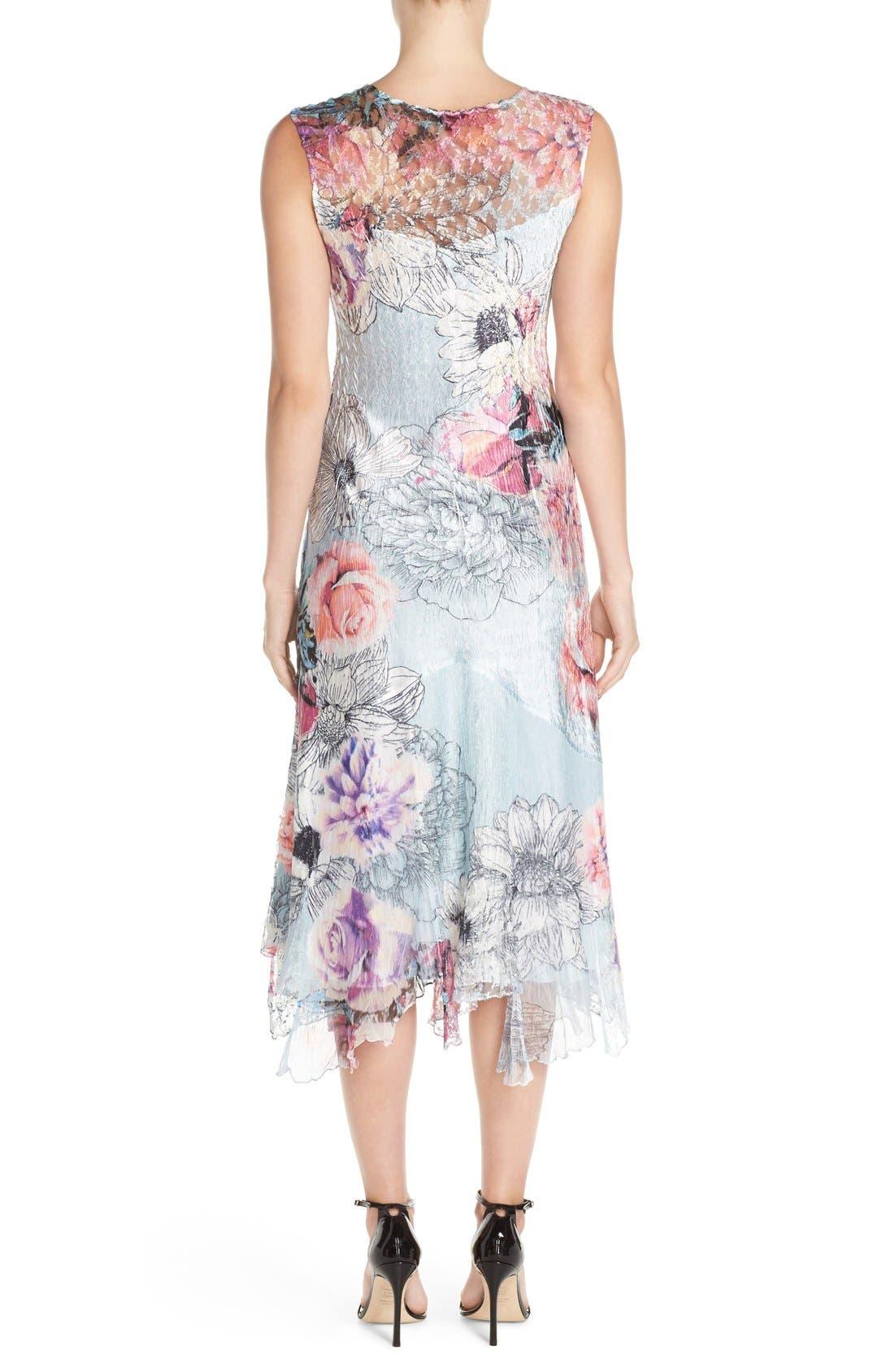 Alternate Image 2  - Komarov Mixed Media Midi Dress (Regular & Petite)