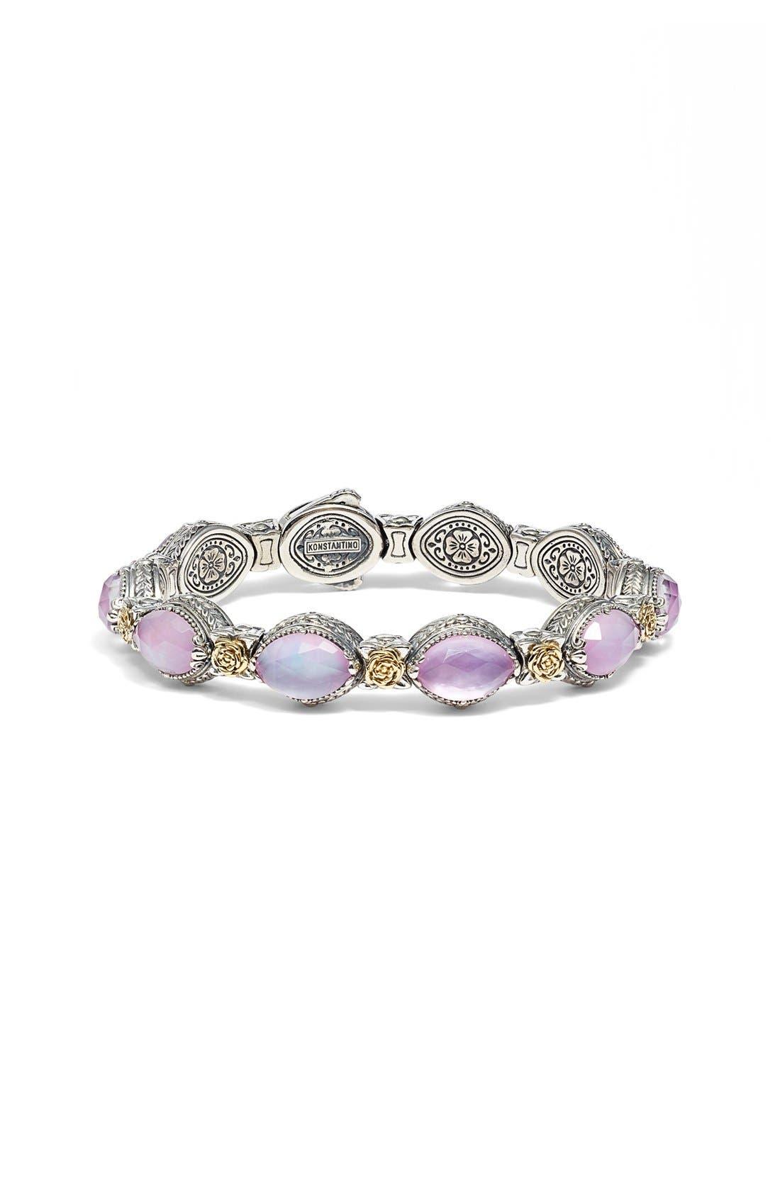 'Iliada' Stone Link Bracelet,                         Main,                         color, Pink