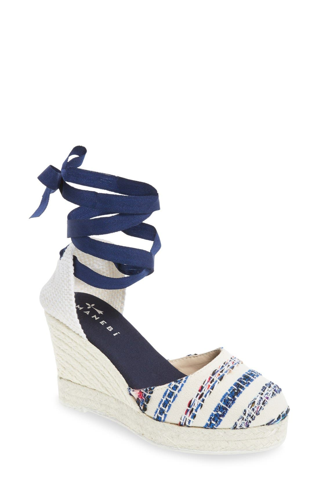Alternate Image 1 Selected - MANEBÍ 'Ibiza' Espadrille Wedge Sandal (Women)