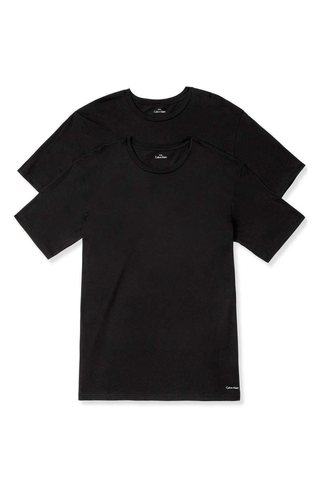 2-Pack Crewneck T-Shirt,                             Main thumbnail 1, color,                             Black