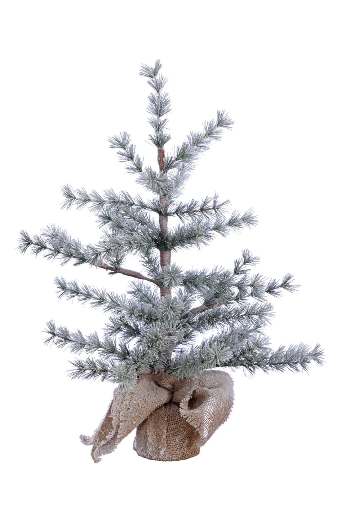 ALLSTATE Mini Burlap Wrapped Pine Tree