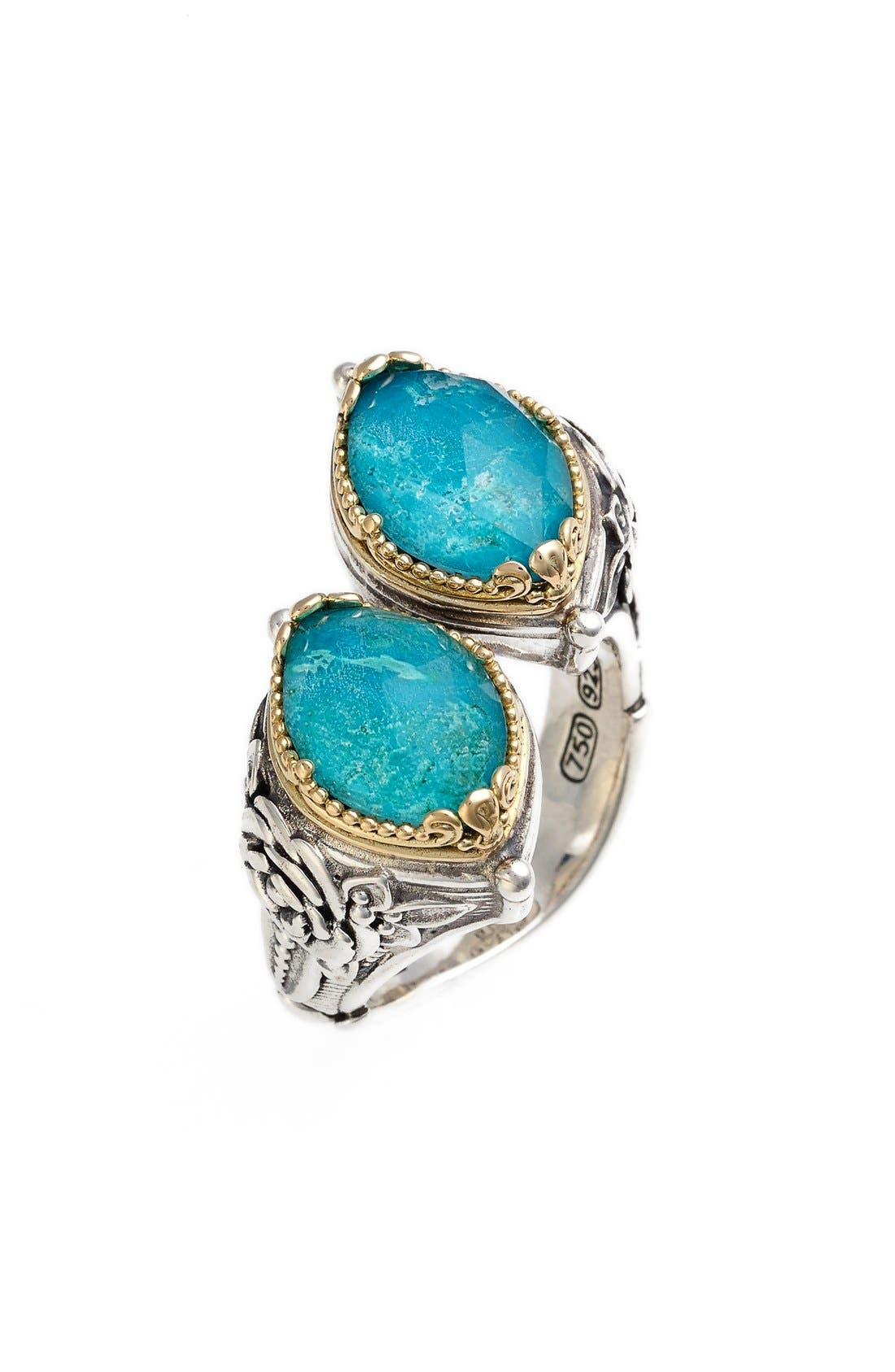 'Iliada' Doublet Ring,                         Main,                         color, Blue/ Green