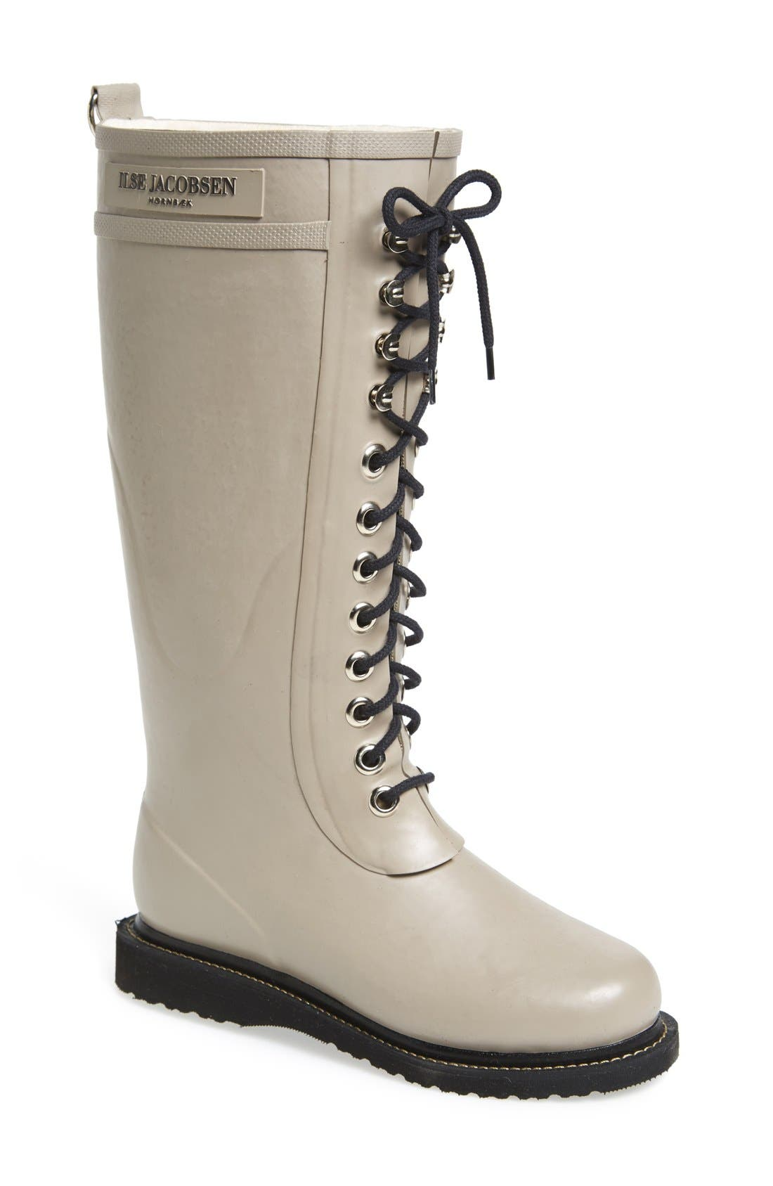 Alternate Image 1 Selected - Ilse Jacobsen Hornbæk Rubber Boot (Women) (Wide Calf)