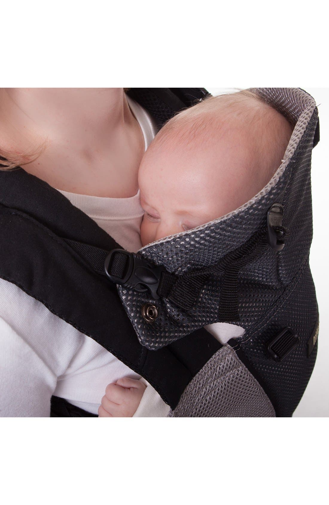 'Airflow' Baby Carrier,                             Alternate thumbnail 4, color,                             Grey/ Silver
