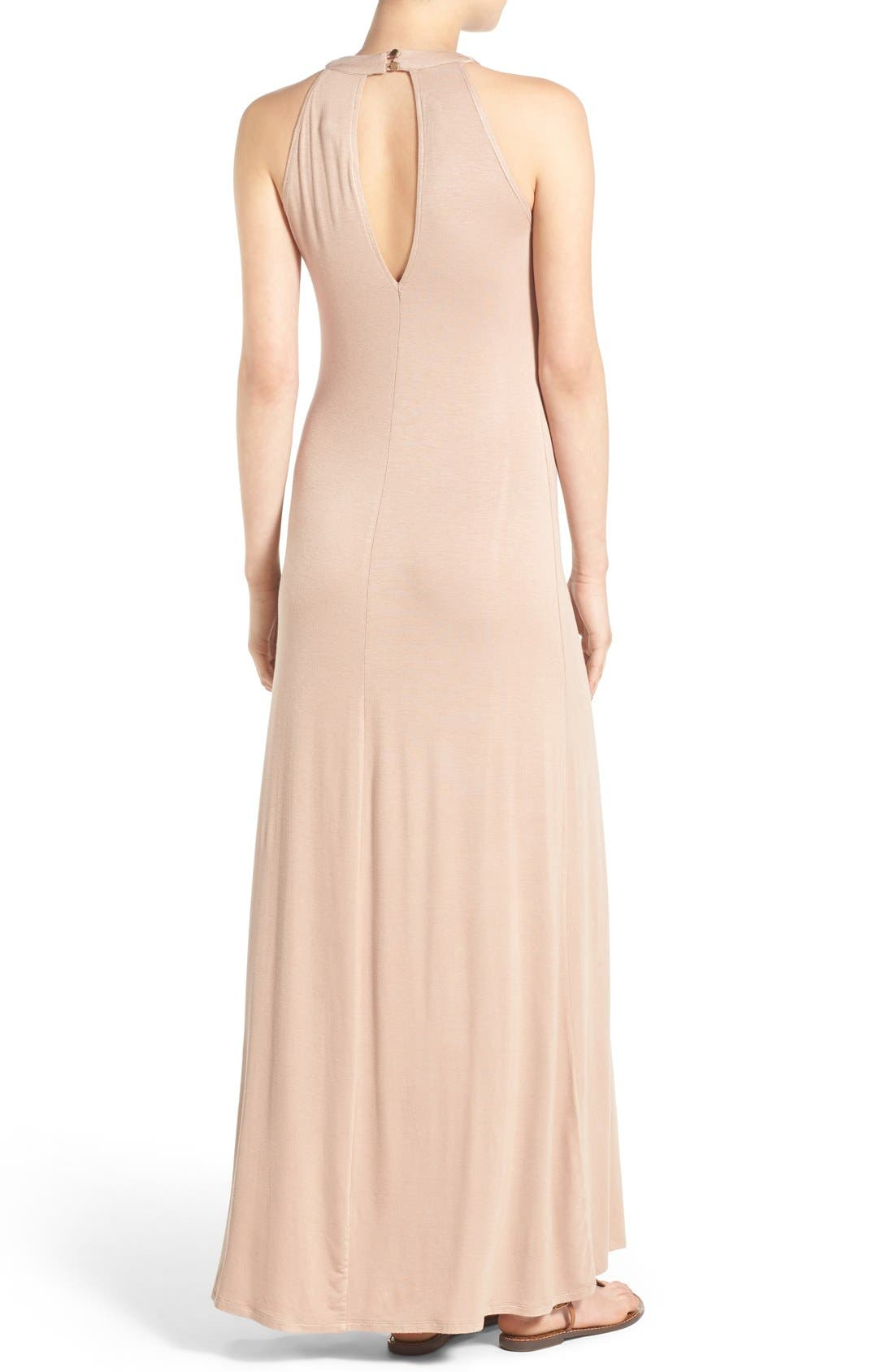 Alternate Image 2  - Mimi Chica High Neck Maxi Dress