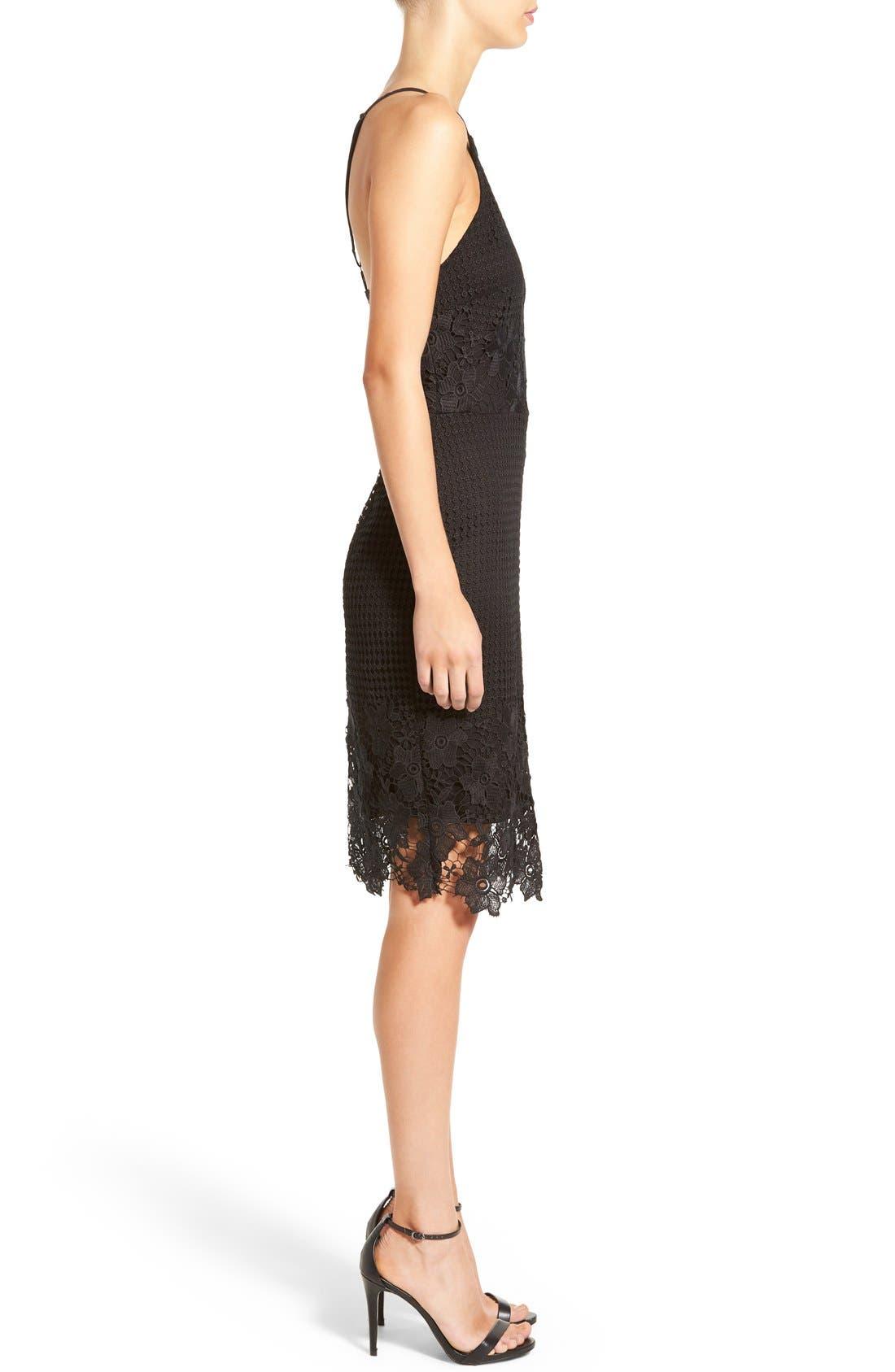 Alternate Image 3  - Willow & Clay Appliqué High Neck Midi Dress