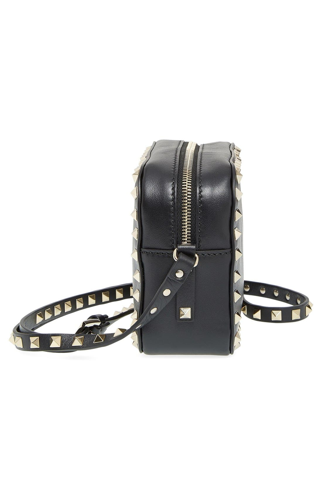 Alternate Image 5  - VALENTINO GARAVANI 'Rockstud' Calfskin Leather Camera Crossbody Bag