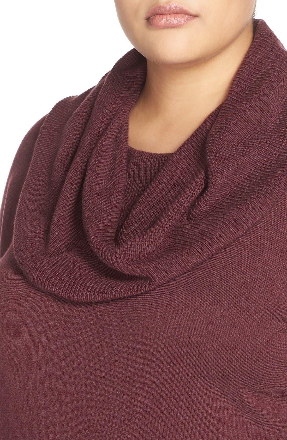 Alternate Image 4  - Caslon® Cowl Neck Tunic Sweater (Plus Size)