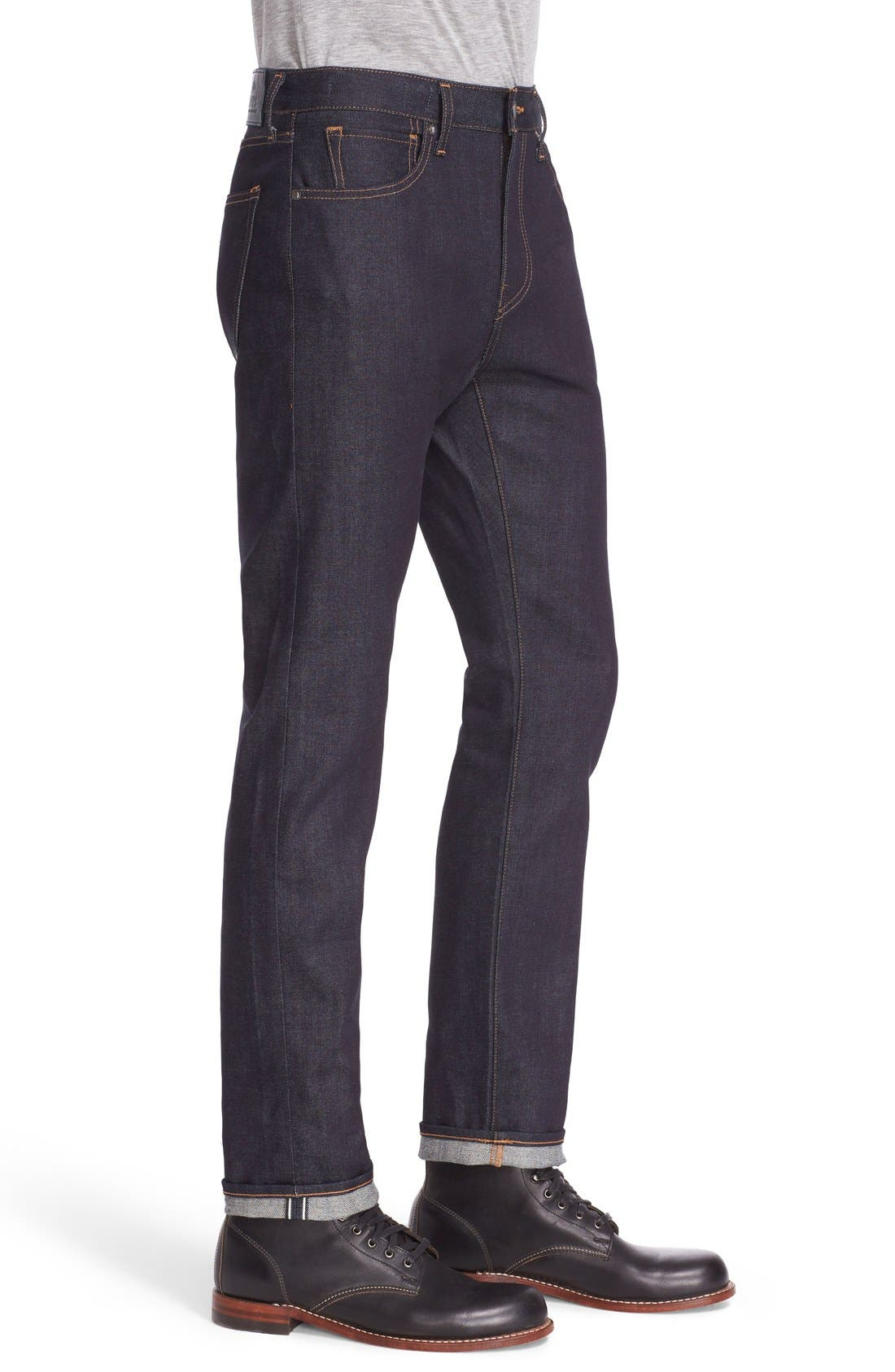 'Tack' Slim Fit Jeans,                             Alternate thumbnail 3, color,                             Indigo