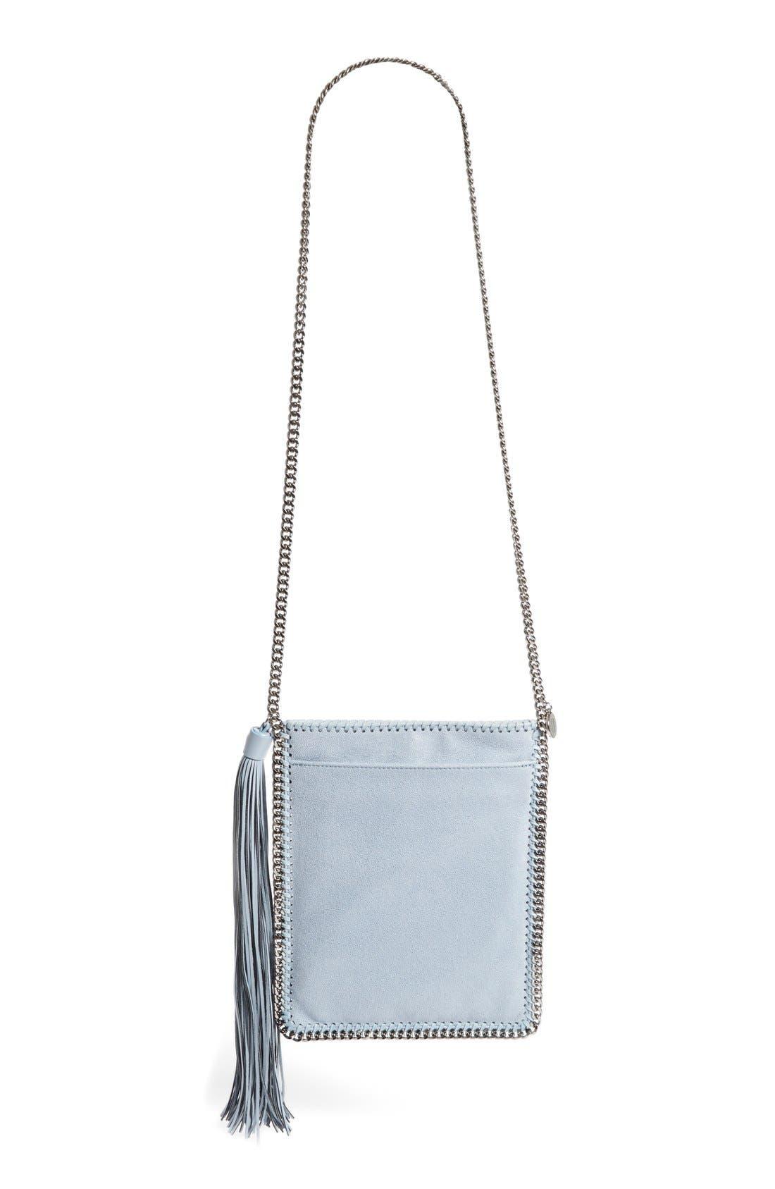 'Falabella' Faux Leather Shoulder Bag,                             Alternate thumbnail 2, color,                             Duck Blue