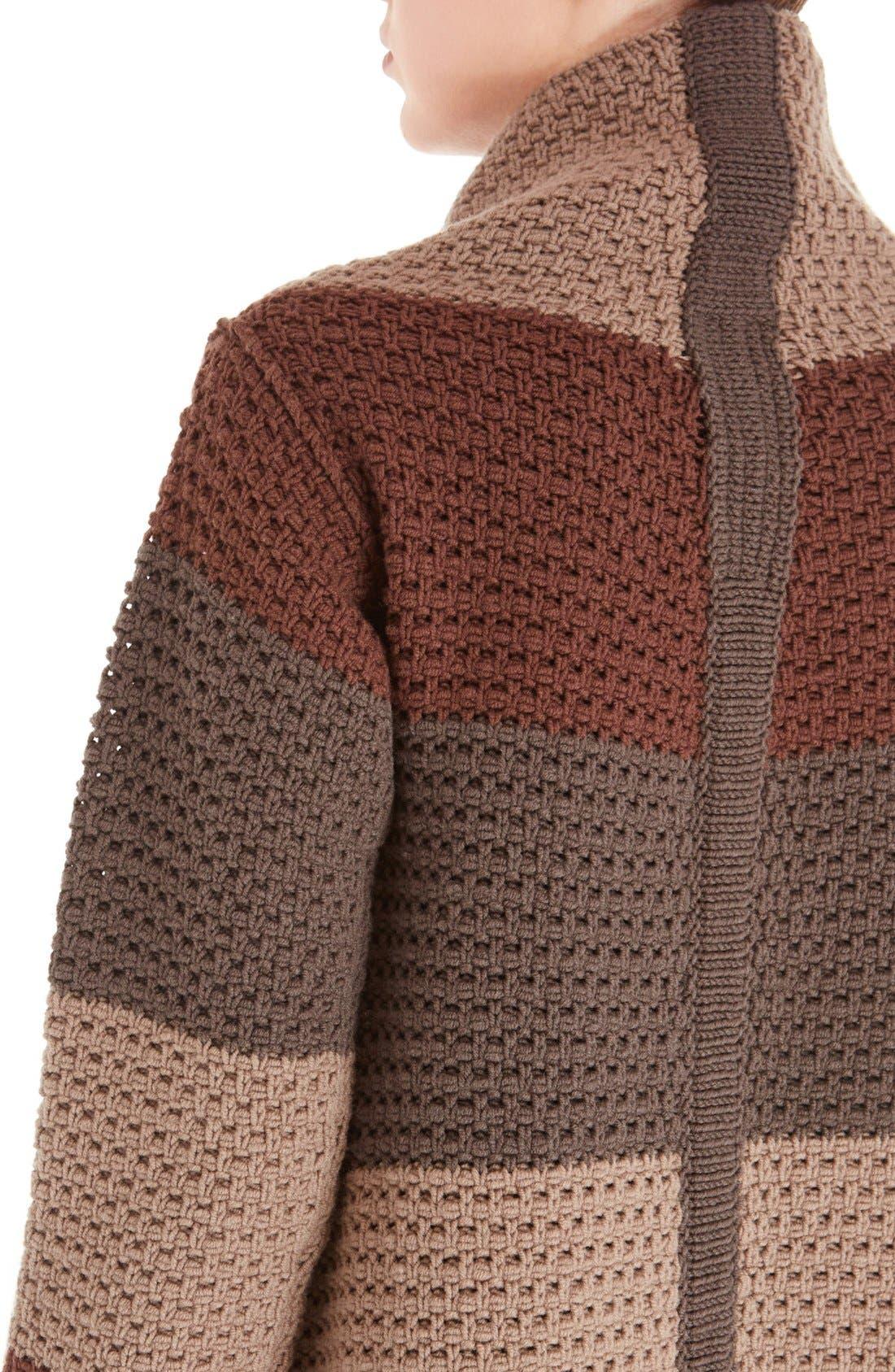 Alternate Image 6  - Rick Owens Stripe Drape Front Wool Cardigan