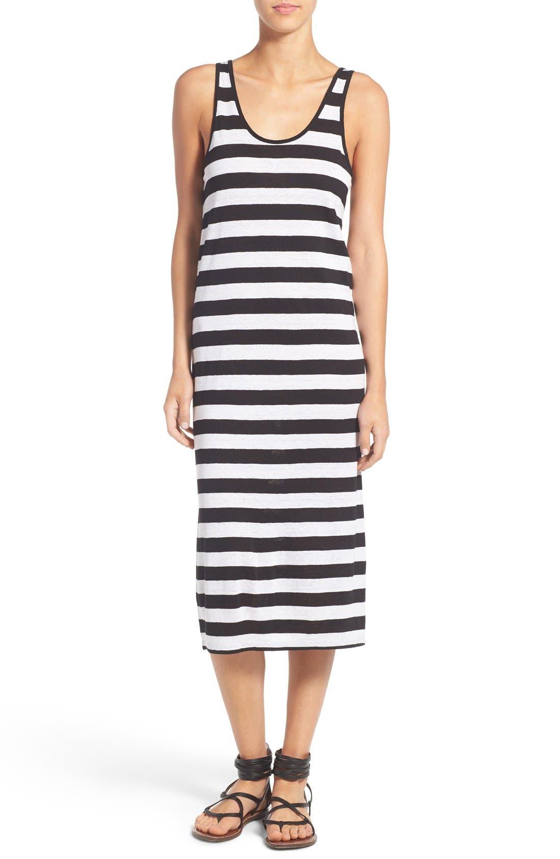 Alternate Image 1 Selected - Joe's 'Weekend' Stripe Linen Midi Dress