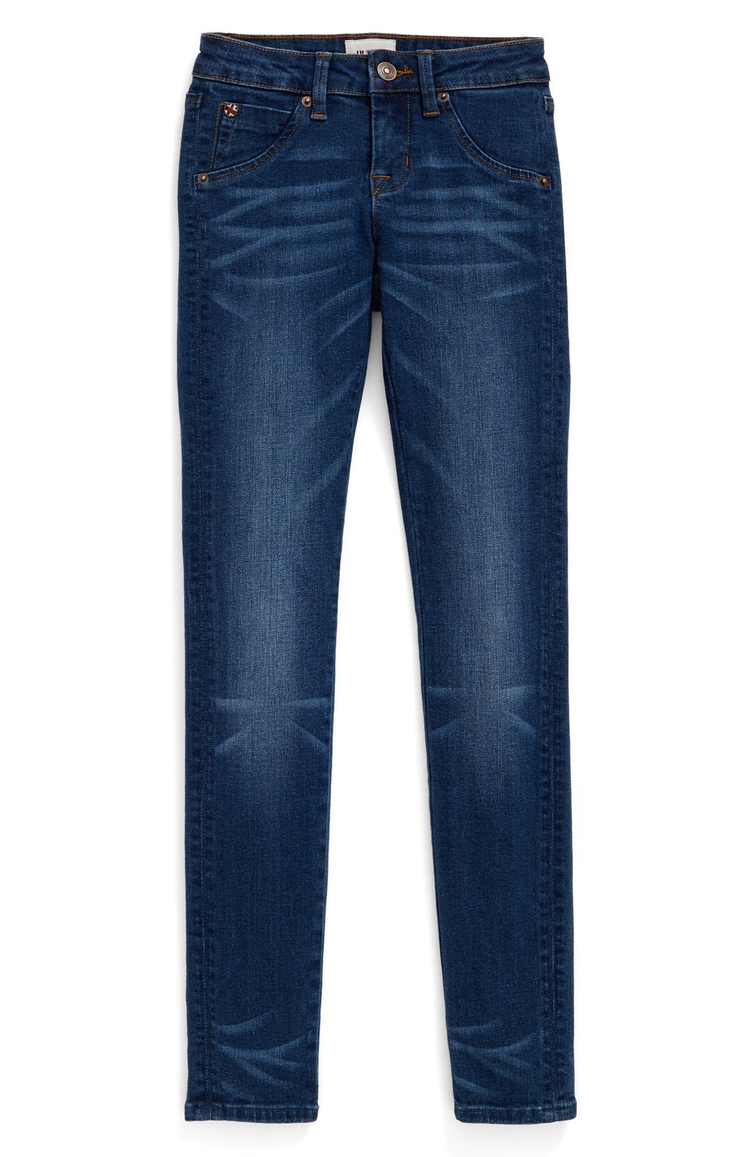 'Collin' Skinny Jeans,                             Main thumbnail 1, color,                             Dark Indigo Sand