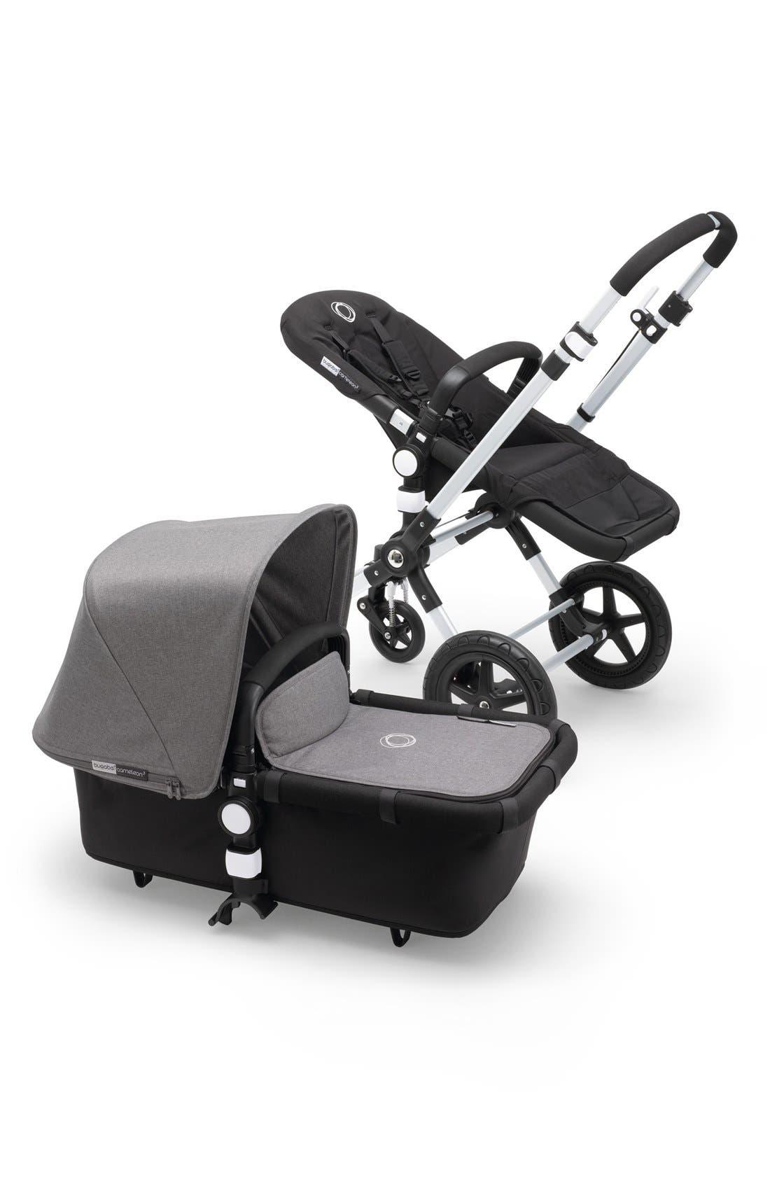 'Cameleon3' Stroller Tailored Fabric Set,                             Alternate thumbnail 3, color,                             Grey Melange