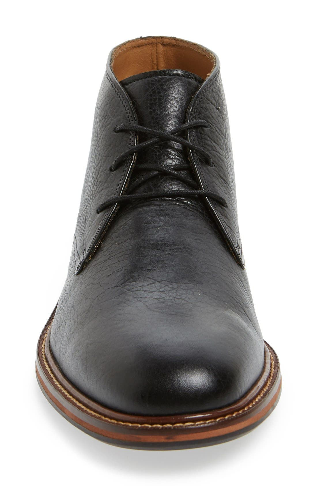 'Barron' Chukka Boot,                             Alternate thumbnail 3, color,                             Black