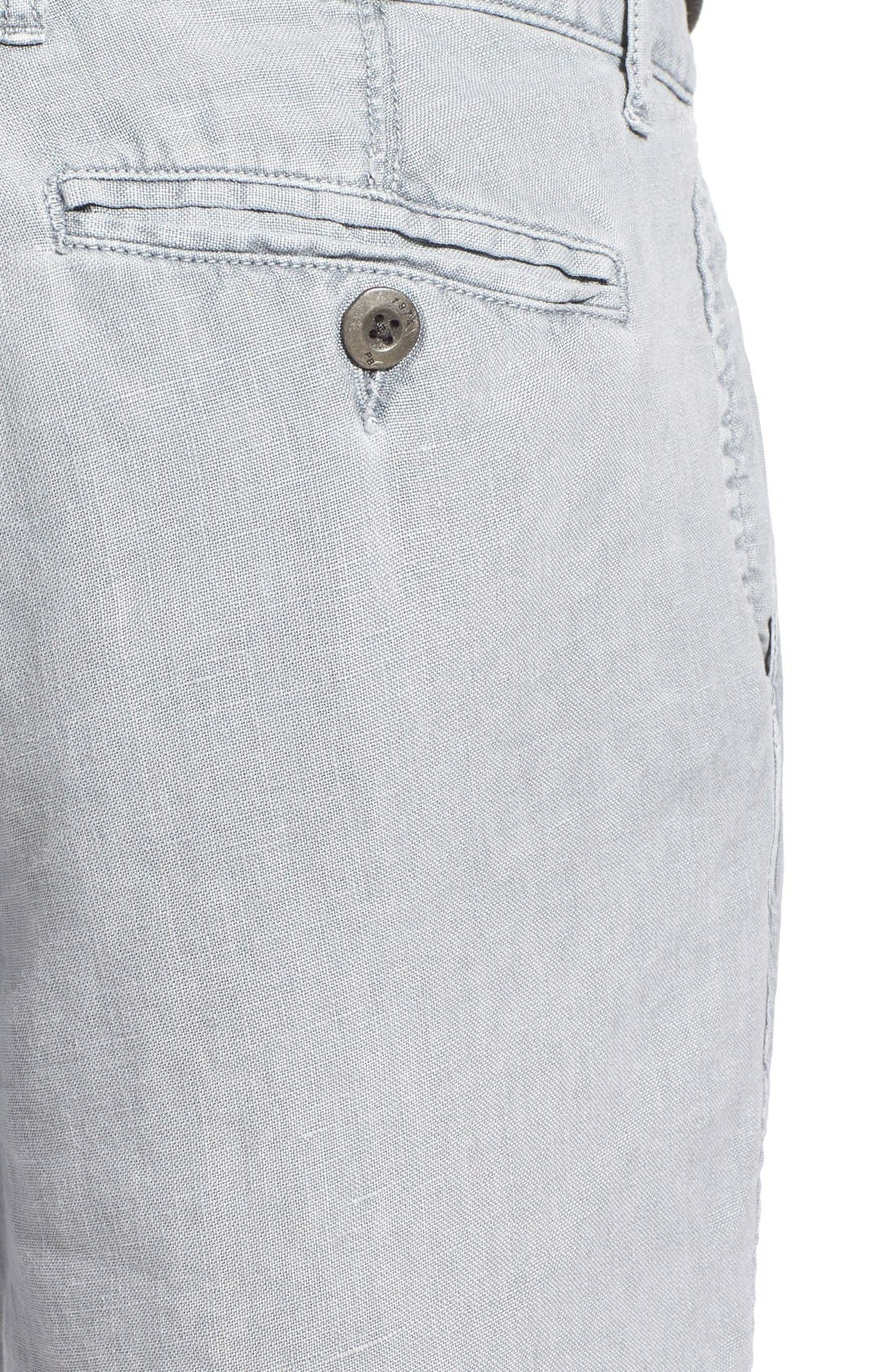 'Havana' Linen Shorts,                             Alternate thumbnail 4, color,                             Lite Grey