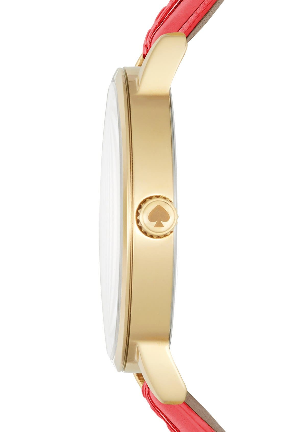 Alternate Image 3  - kate spade new york 'metro' leather strap watch, 34mm