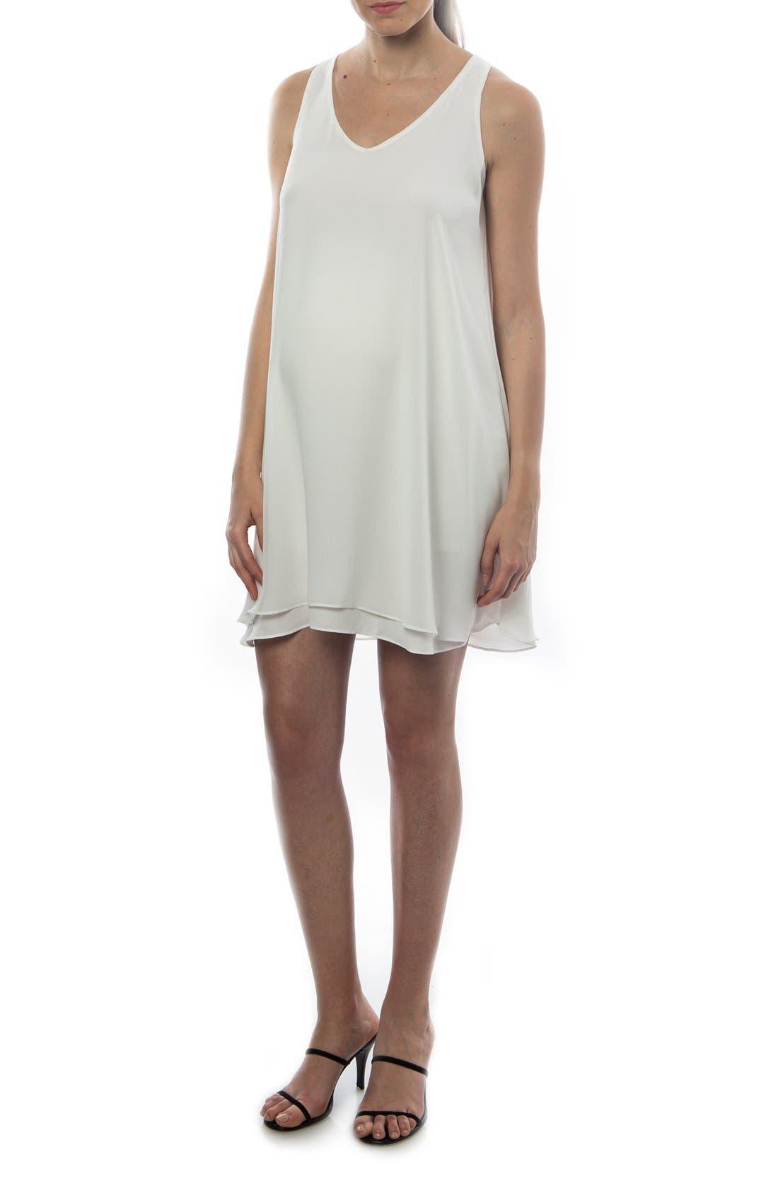 Alternate Image 1 Selected - PIETRO BRUNELLI 'Lago Di Como' High/Low Maternity Dress