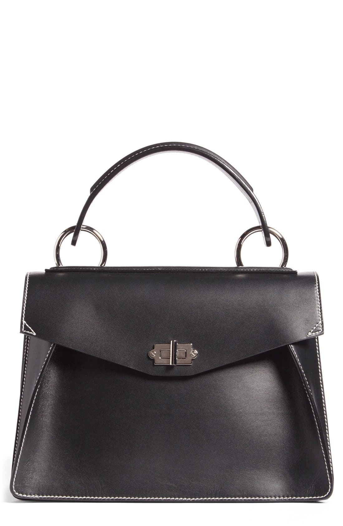 PROENZA SCHOULER Medium Hava Top Handle Calfskin Leather Satchel