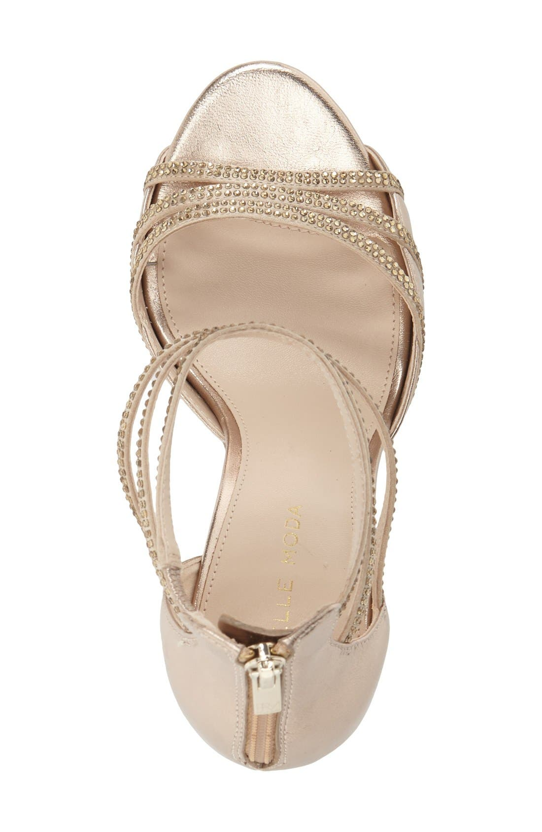 Alternate Image 3  - Pelle Moda 'Jolene' Crystal Embellished d'Orsay Sandal (Women)