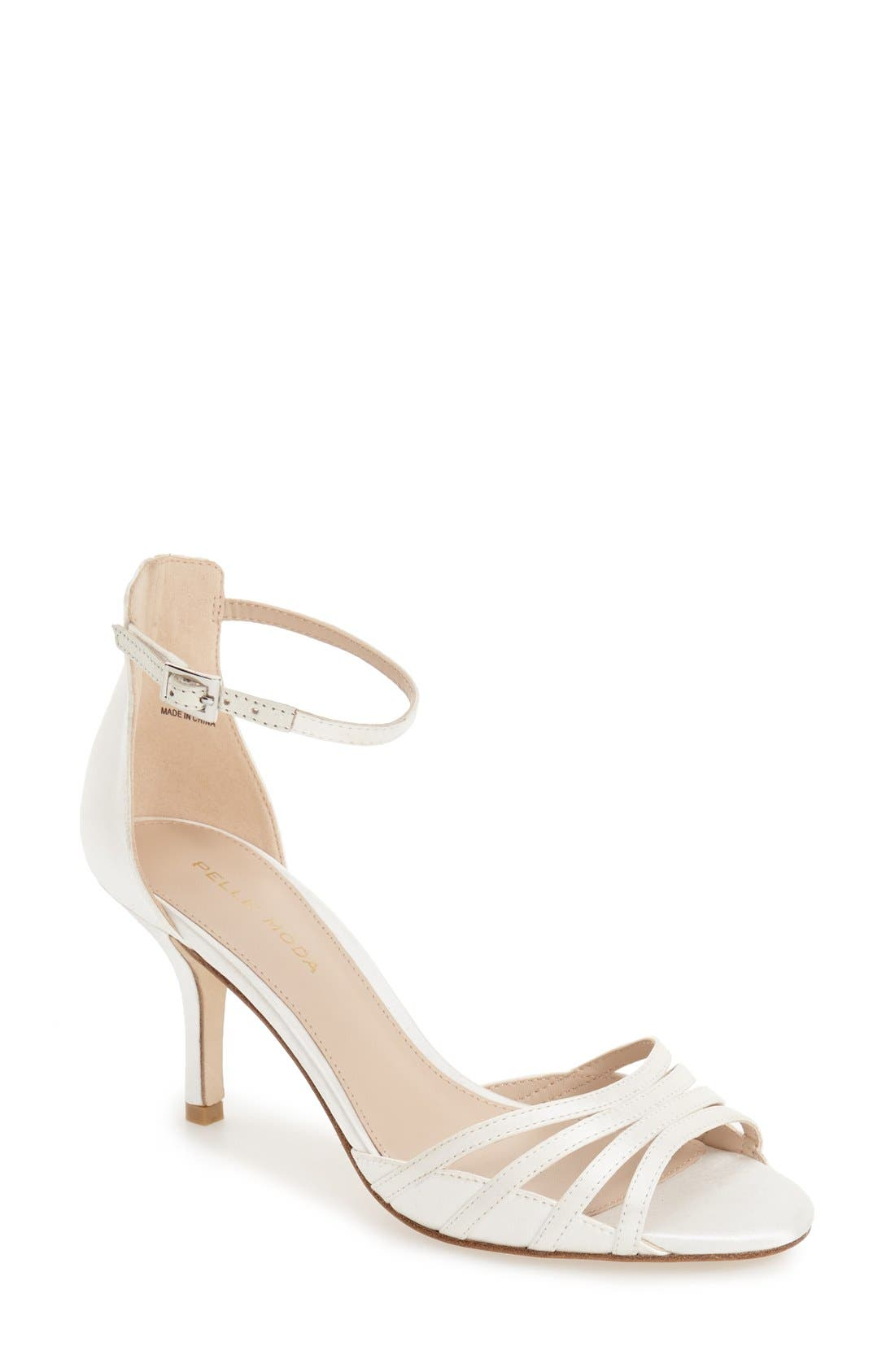 'Isabel 2' d'Orsay Sandal,                             Main thumbnail 1, color,                             White Leather
