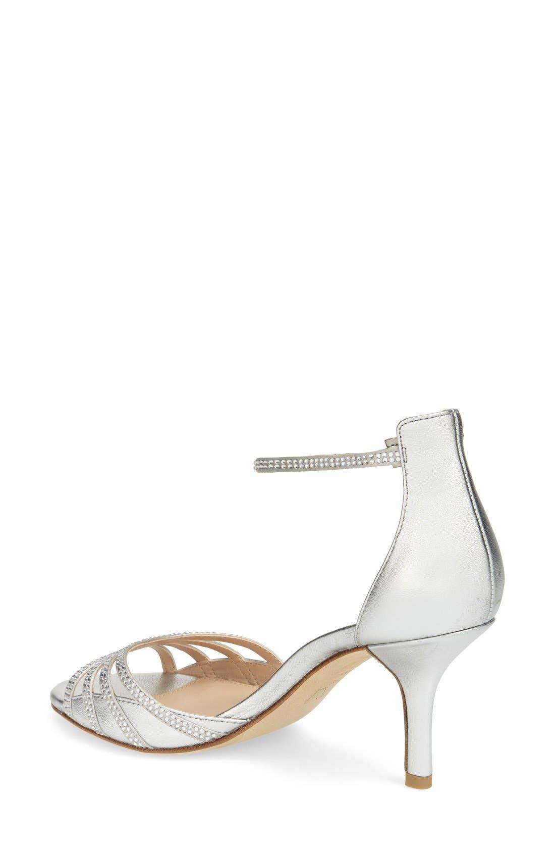 Alternate Image 2  - Pelle Moda 'Isabel' Crystal Embellished d'Orsay Sandal (Women)