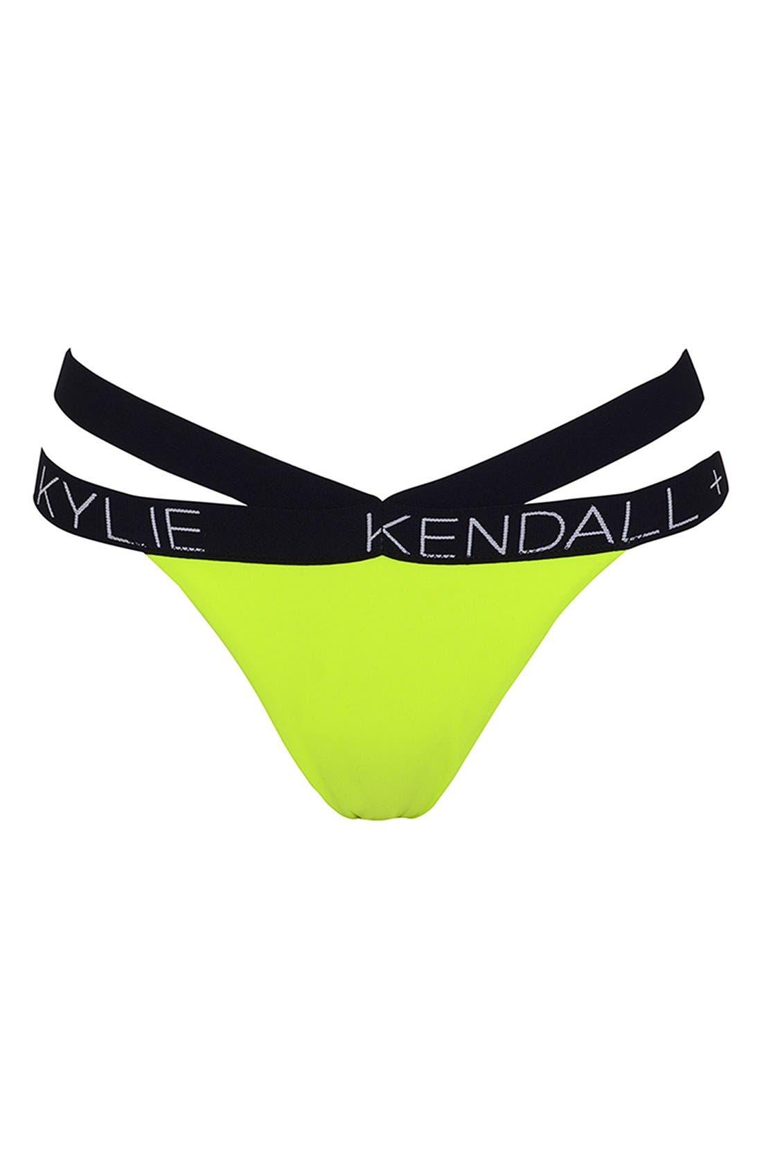 Main Image - KENDALL + KYLIE at Topshop Contrast Trim Bikini Bottoms