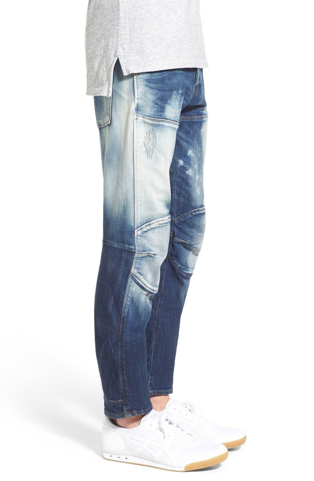 Alternate Image 3  - G-Star Raw '5620 Type C' Skinny Fit Moto Jeans (Moon Wash Restored)