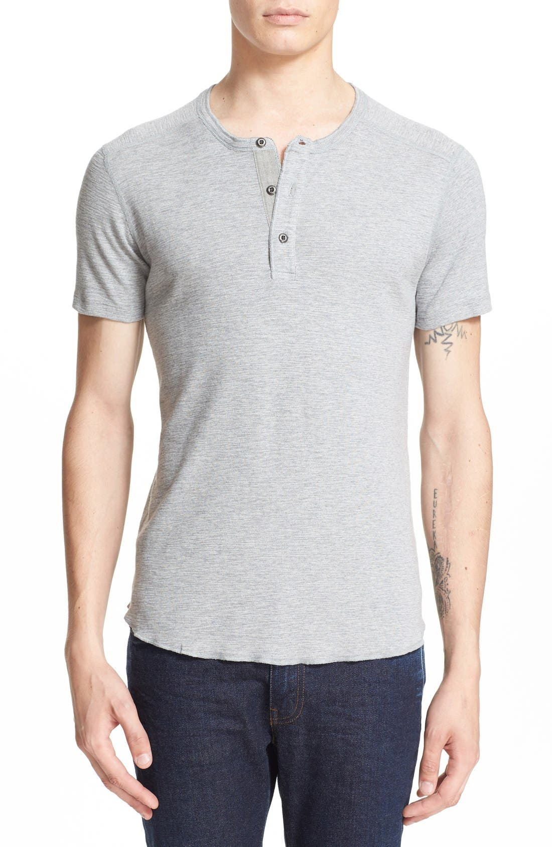 wings + horns 'Base' Short Sleeve Henley
