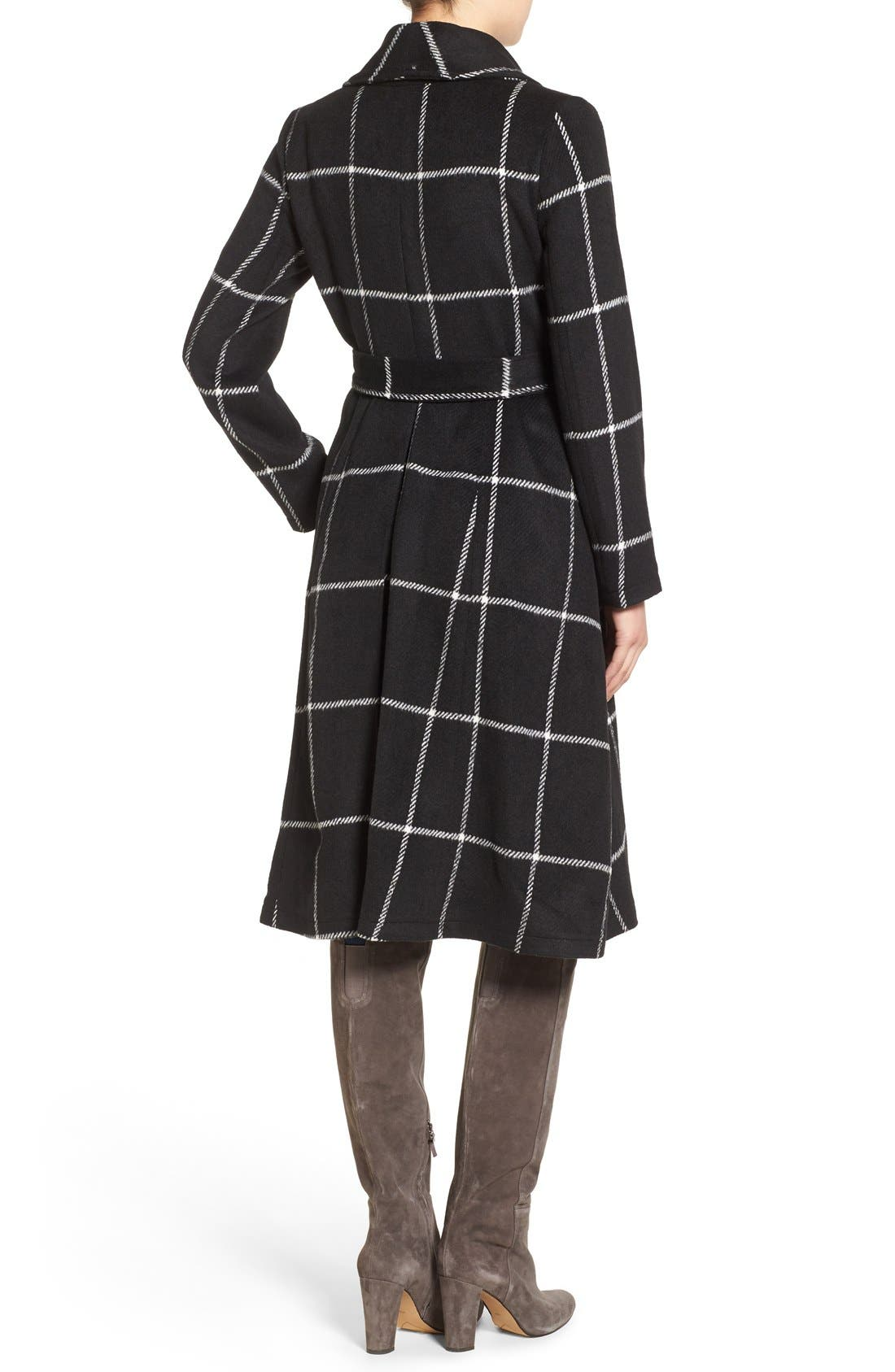 Alternate Image 2  - BB Dakota 'Braylee' Windowpane Plaid Midi Coat