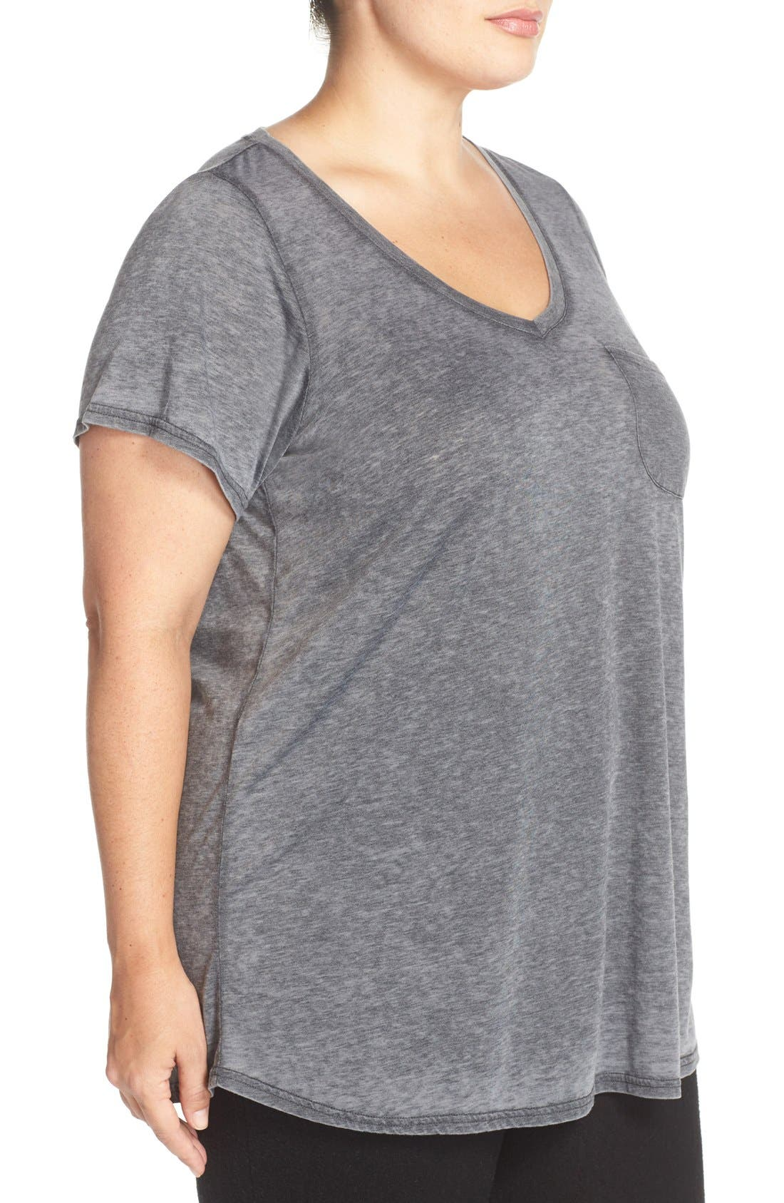 'Gotta Have It' V-Neck Tee,                             Alternate thumbnail 3, color,                             Charcoal