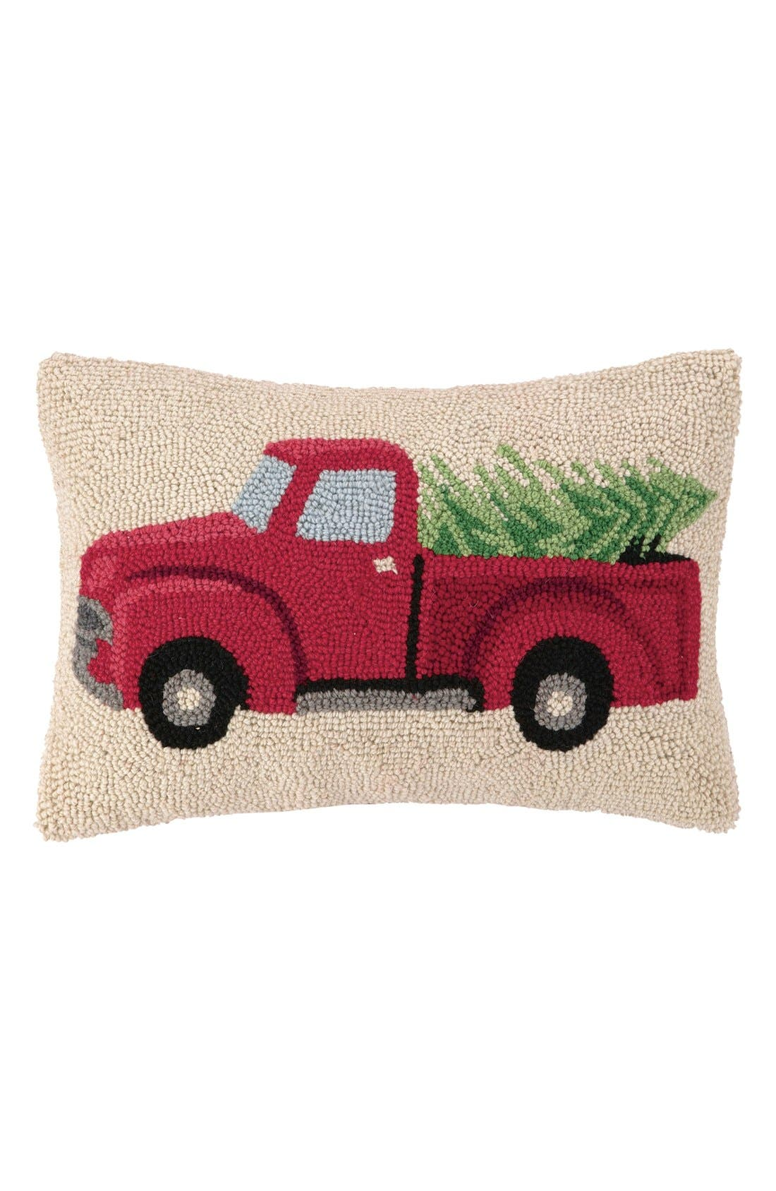 'Tree Truck' Pillow,                         Main,                         color, Red/ Beige
