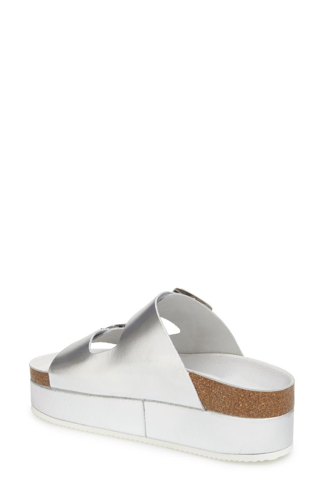 'Fang' Platform Sandal,                             Alternate thumbnail 2, color,                             Silver Multi