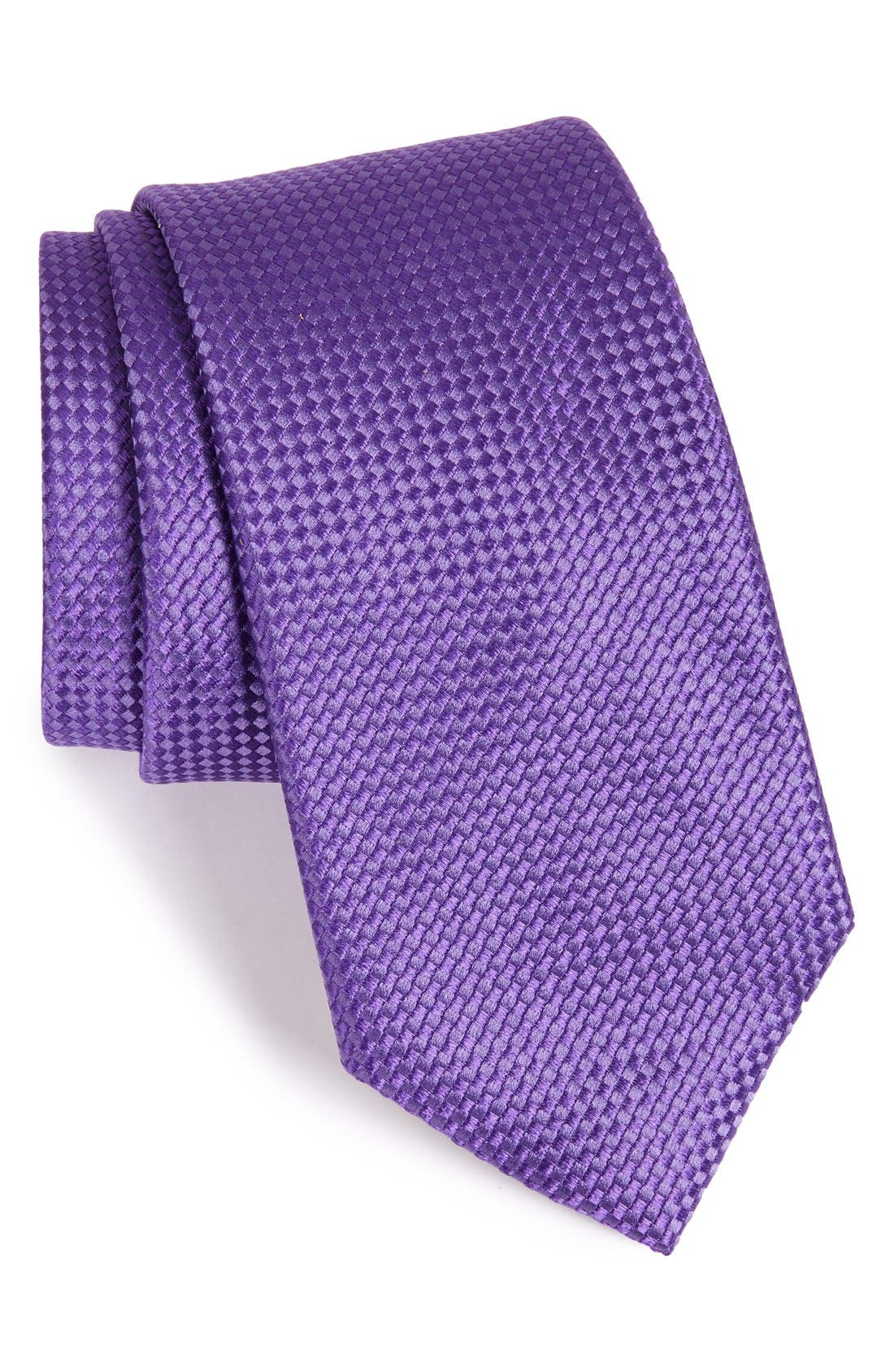 Alternate Image 1 Selected - Nordstrom Men's Shop 'Nate' Solid Silk Tie