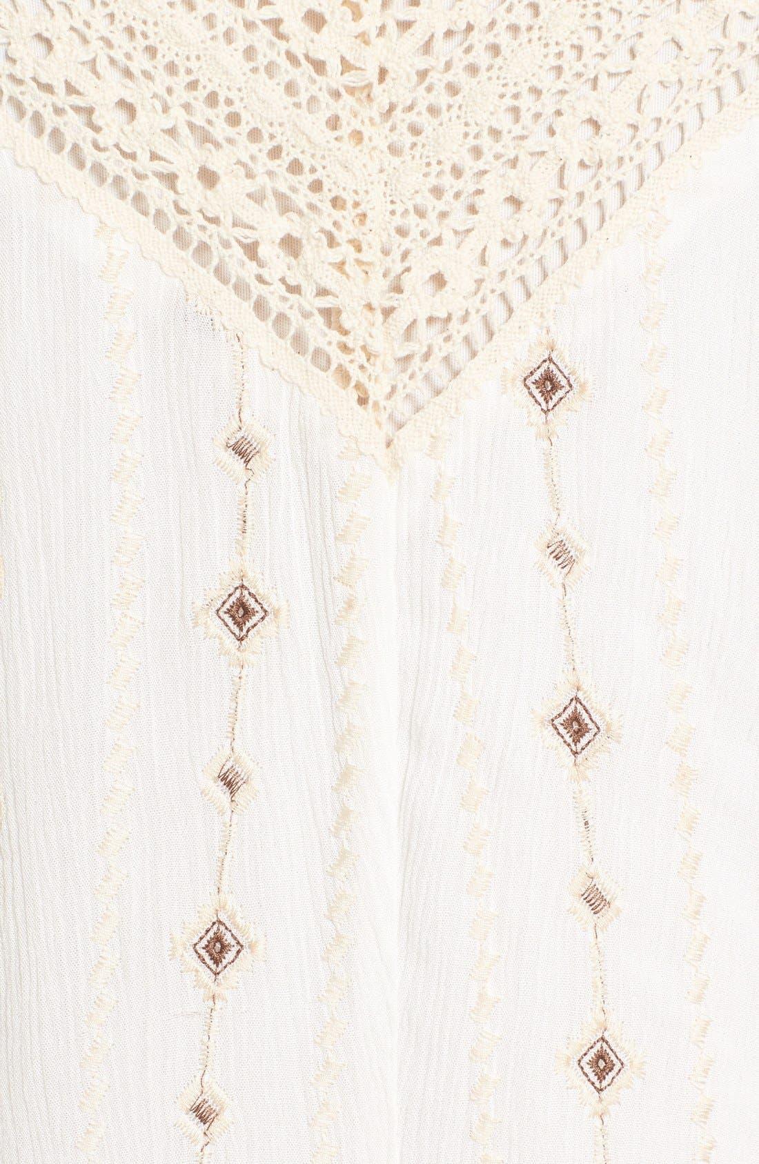 Alternate Image 5  - Roxberi Elle Crochet Inset Embroidered Shift Dress