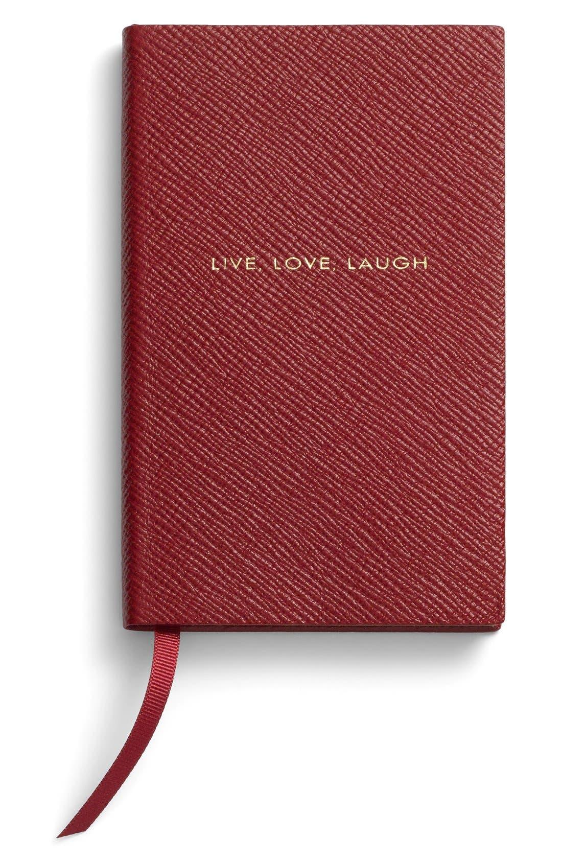 Main Image - Smythson 'Live Love Laugh Panama' Pocket Notebook