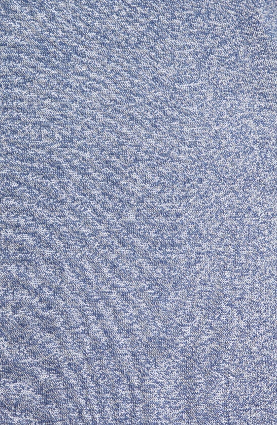 Cotton & Cashmere V-Neck Sweater,                             Alternate thumbnail 5, color,                             Blue Estate Jaspe