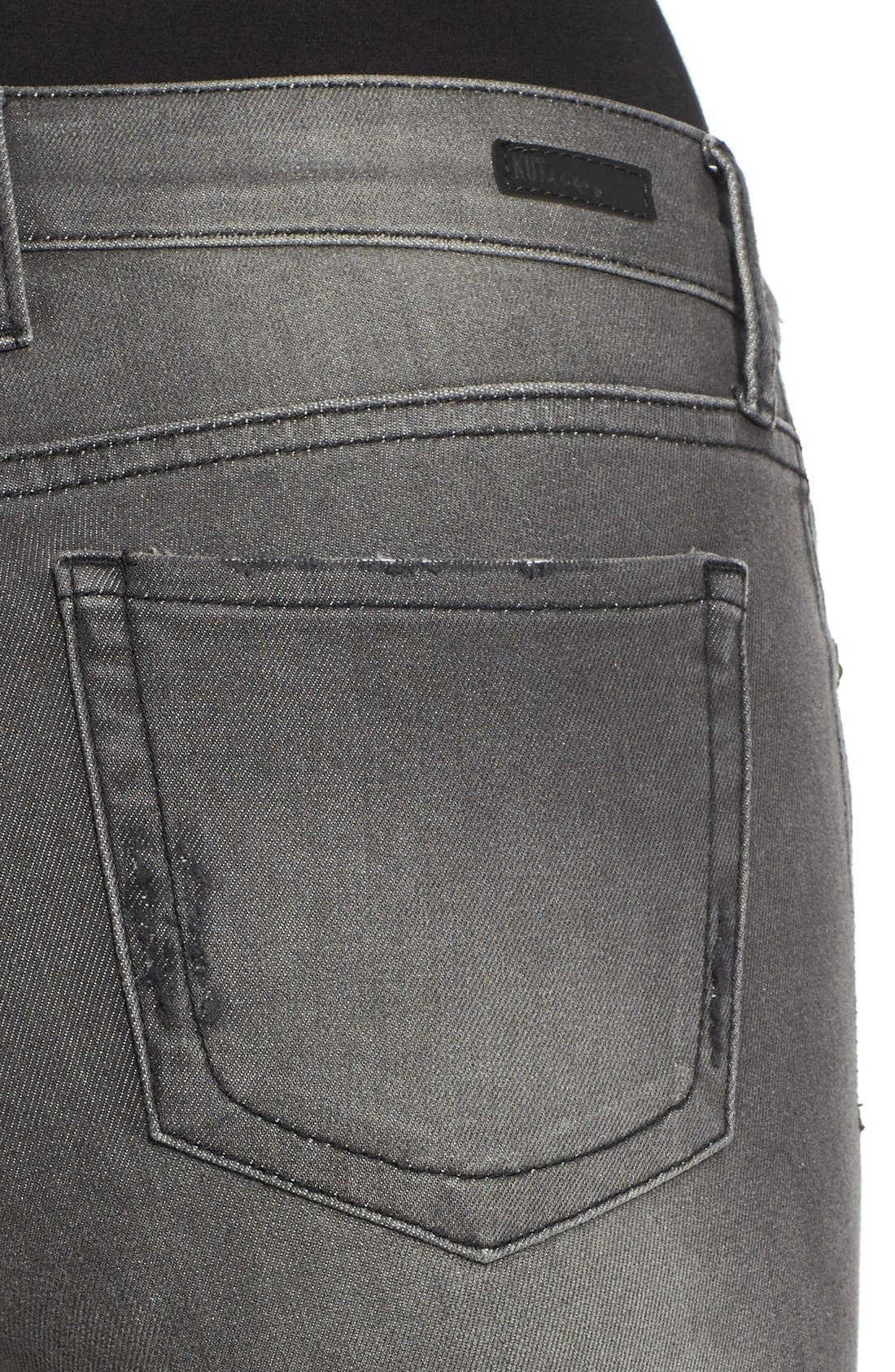 Alternate Image 4  - KUT from the Kloth 'Diana' Stretch Skinny Jeans (Continuity) (Regular & Petite)