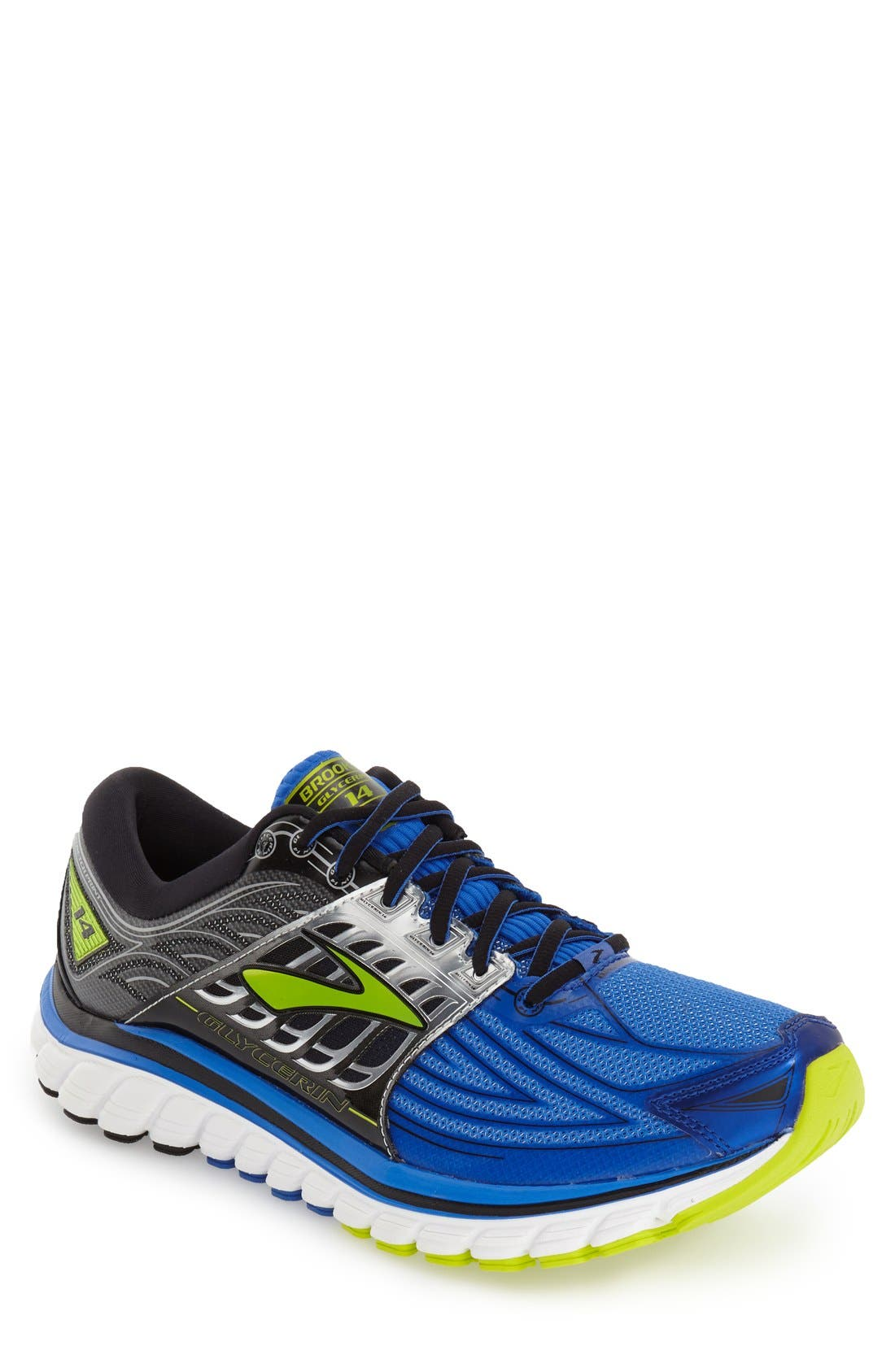 'Glycerin 14' Running Shoe,                             Main thumbnail 1, color,                             Electric Blue/ Black/ Punch